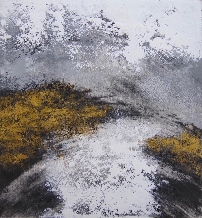 Moor  Oil and Cold Wax  46 cm x 44 cm framed  £325