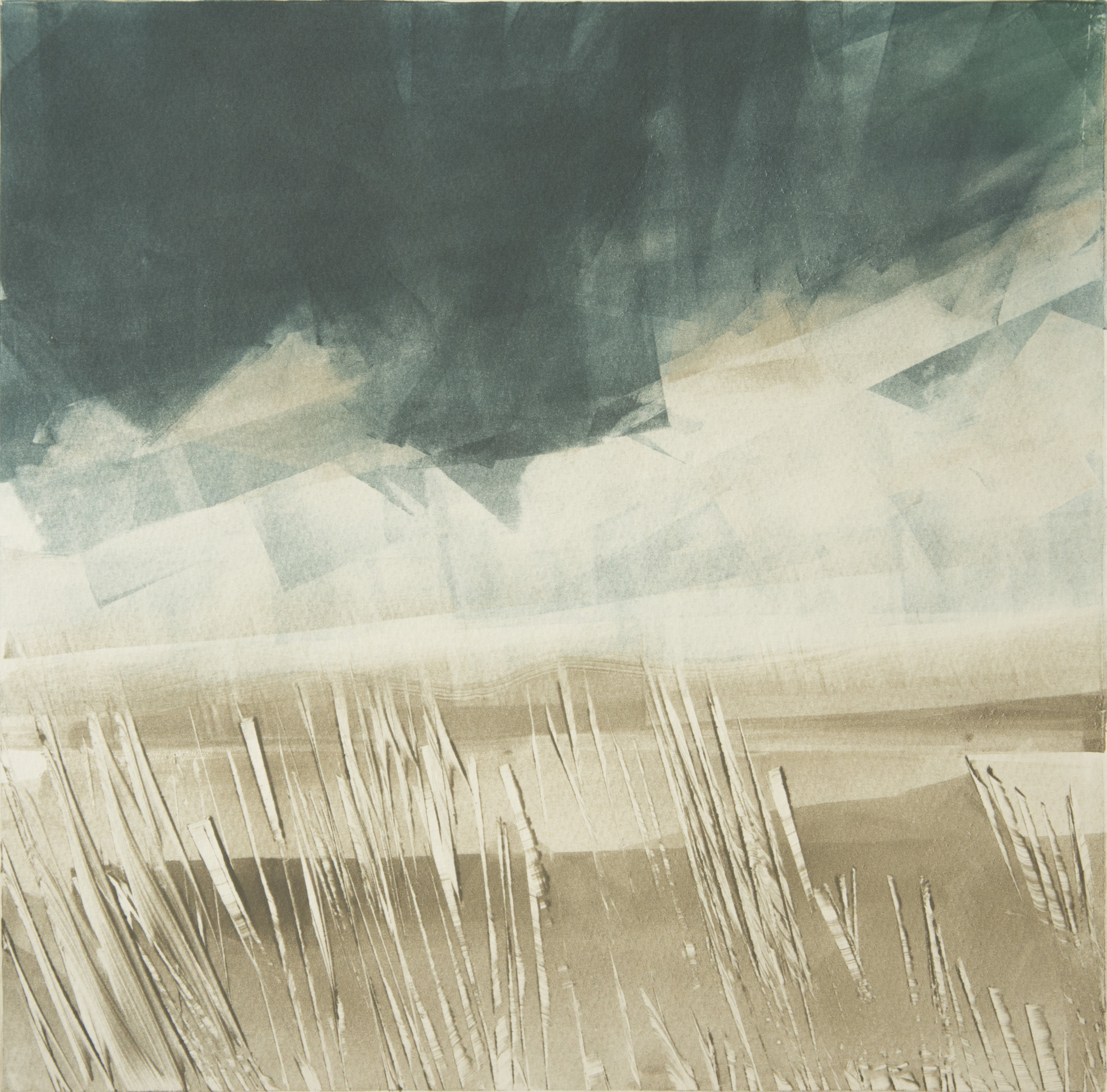 Storm Gathering   Monotype , Unique  300mm x 300mm (image only)  £300
