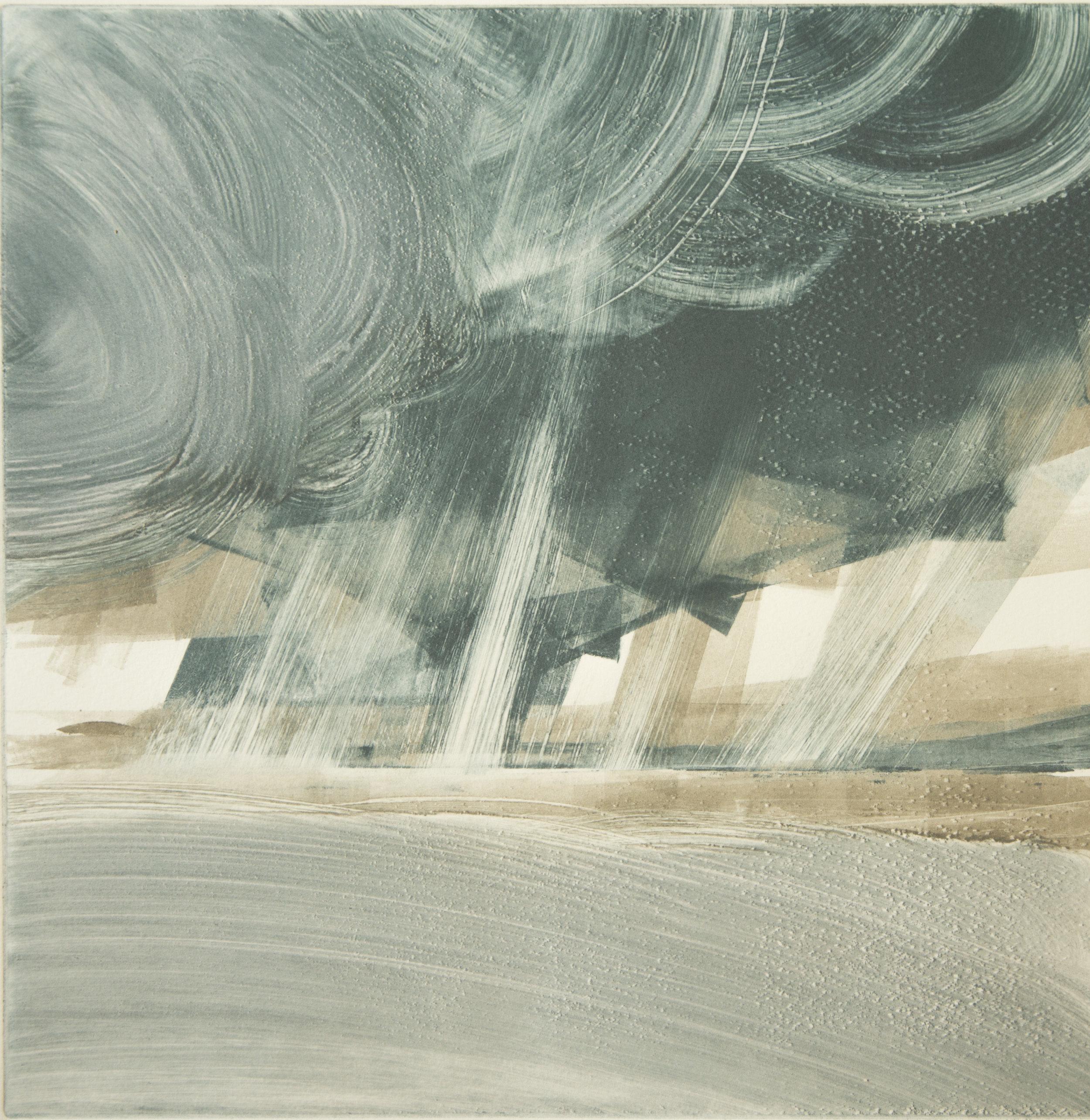 Storm Unleashed   Monotype , Unique  300mm x 300mm (image only)  £300