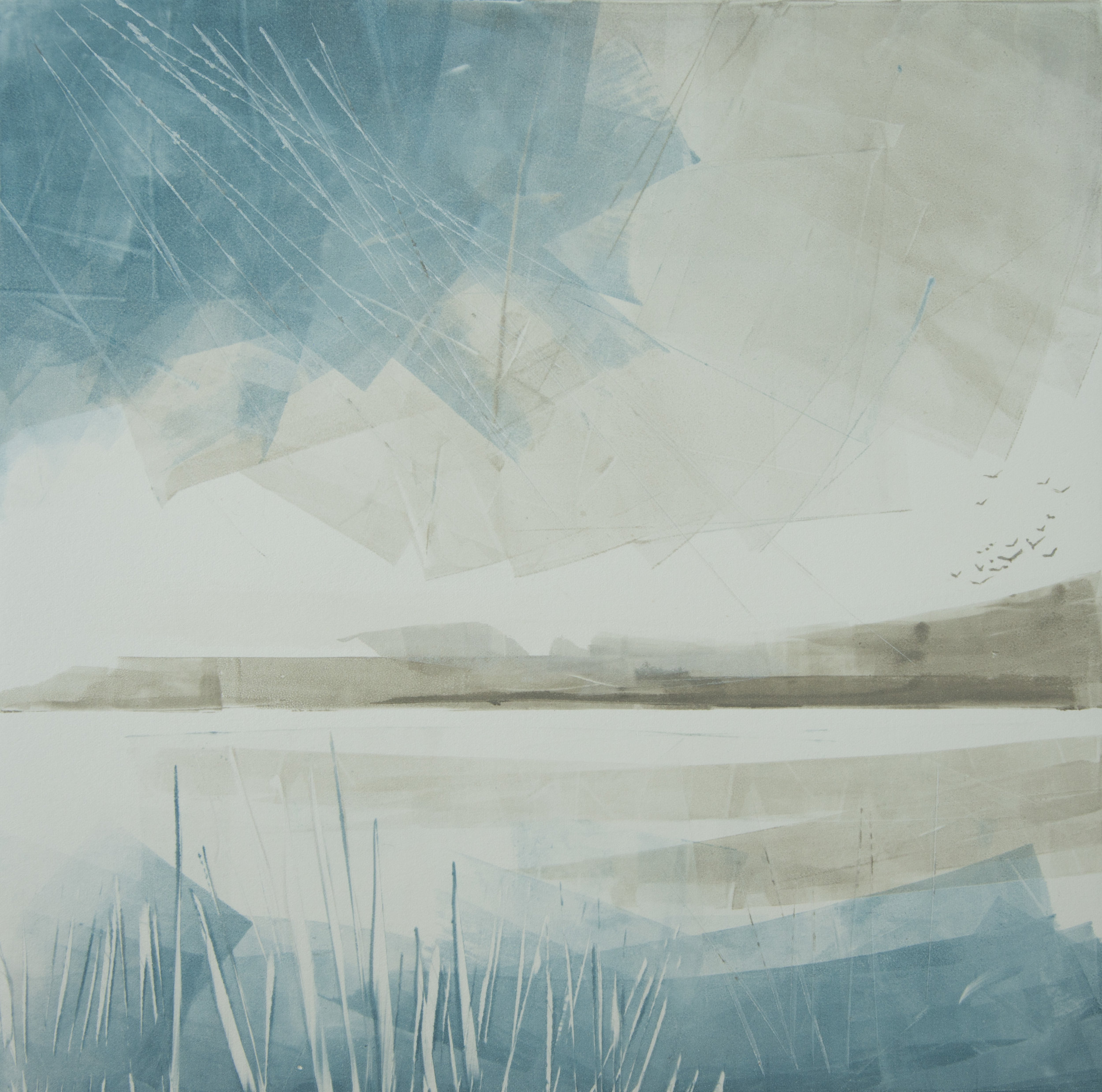 Storm Abating   Monotype , Unique  300mm x 300mm (image only)  £300