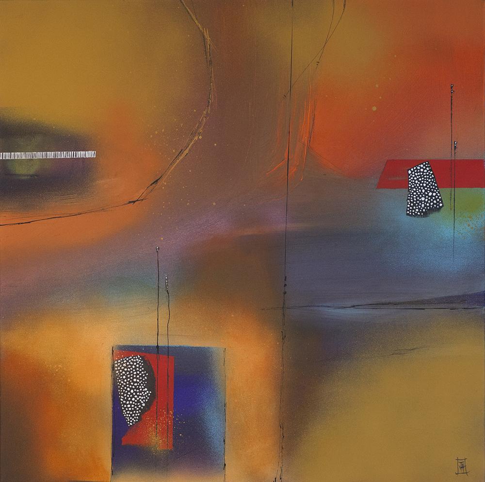 Abstract no8  acrylic on canvas  62cm x62cm  £490