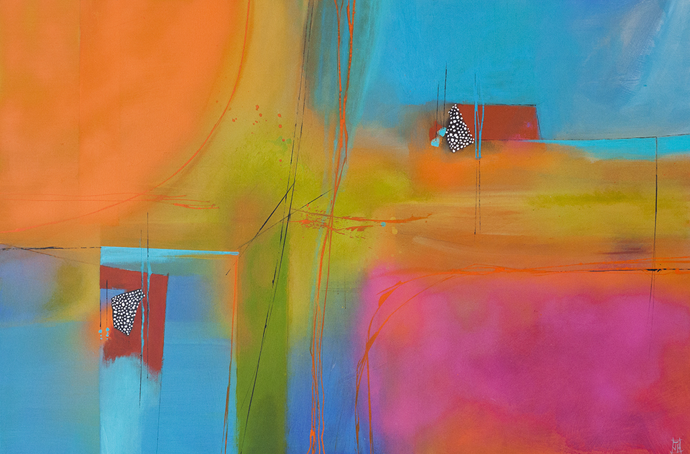 Abstract no1  acrylic on canvas  sold