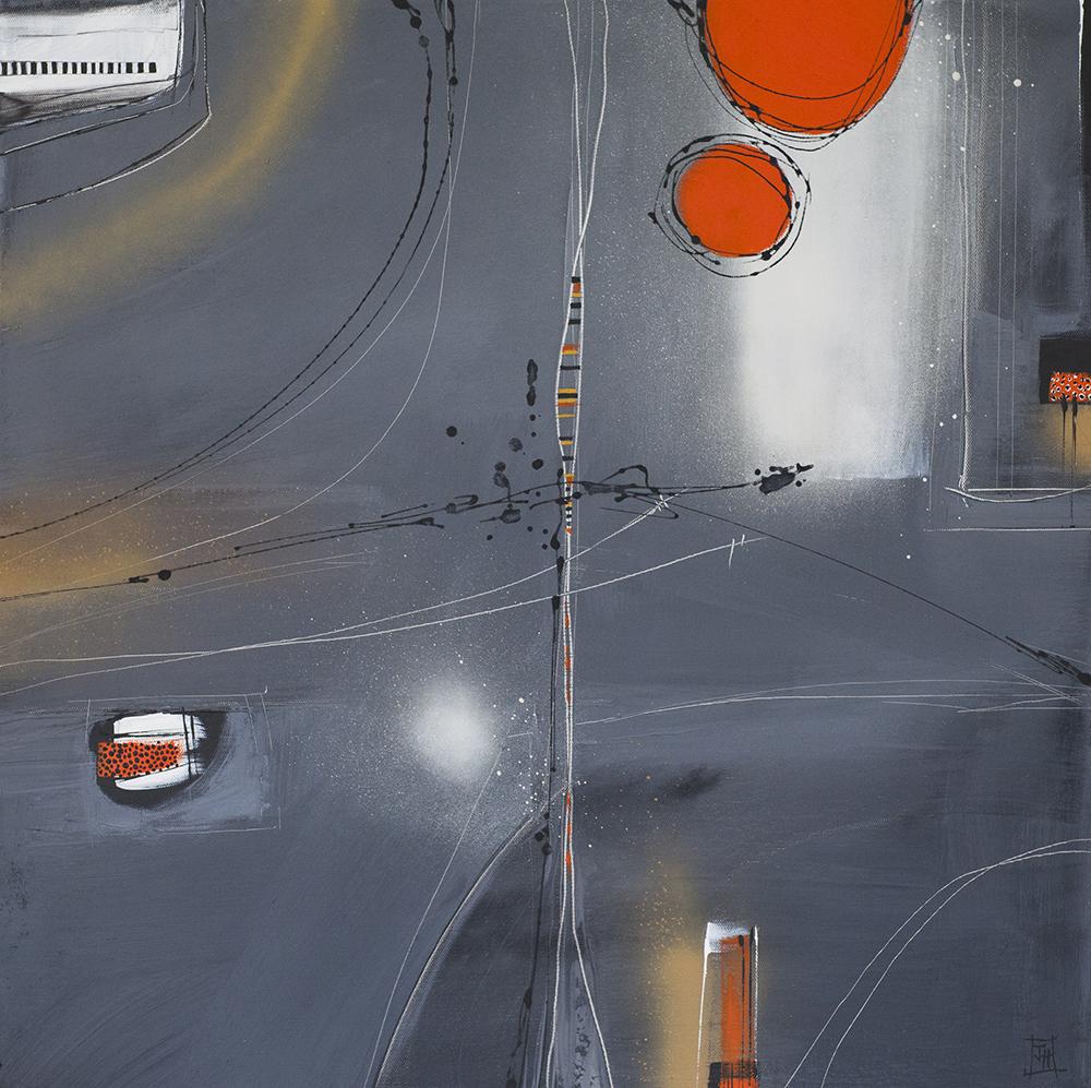Abstract no4  acrylic on canvas  62cm x62cm  £490