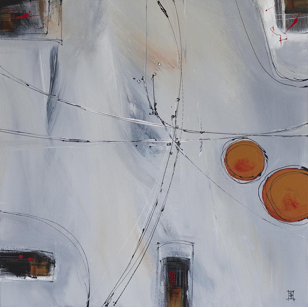 Abstract no7  acrylic on canvas  62cm x62cm  £490