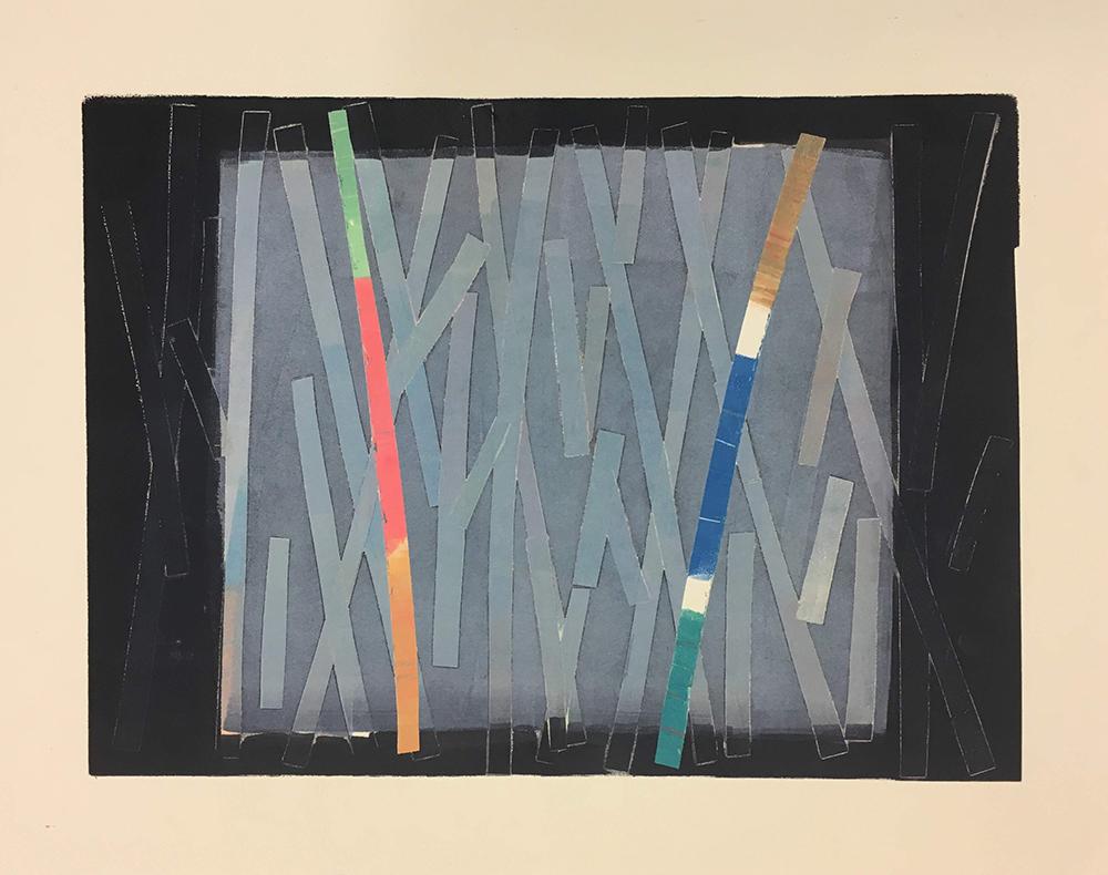 Through the Mist  Monoprint  37 x 29.5 cm  £120