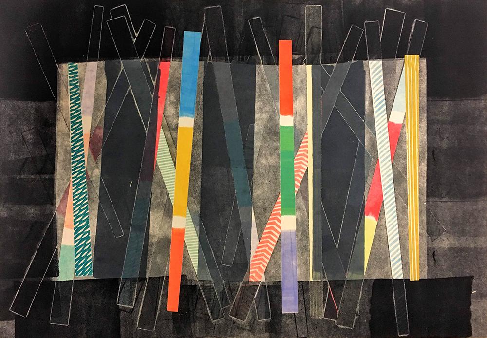 On Stage  Monoprint  51 x 38 cm  £225