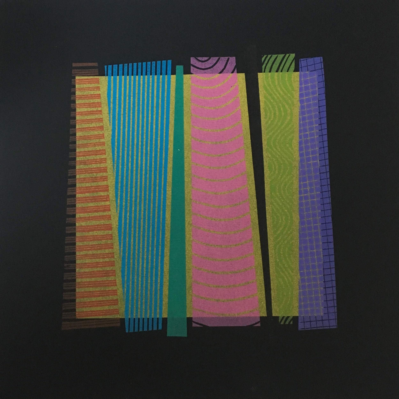 Rhythm on Gold          Linocut       30 x 30 cm               £120
