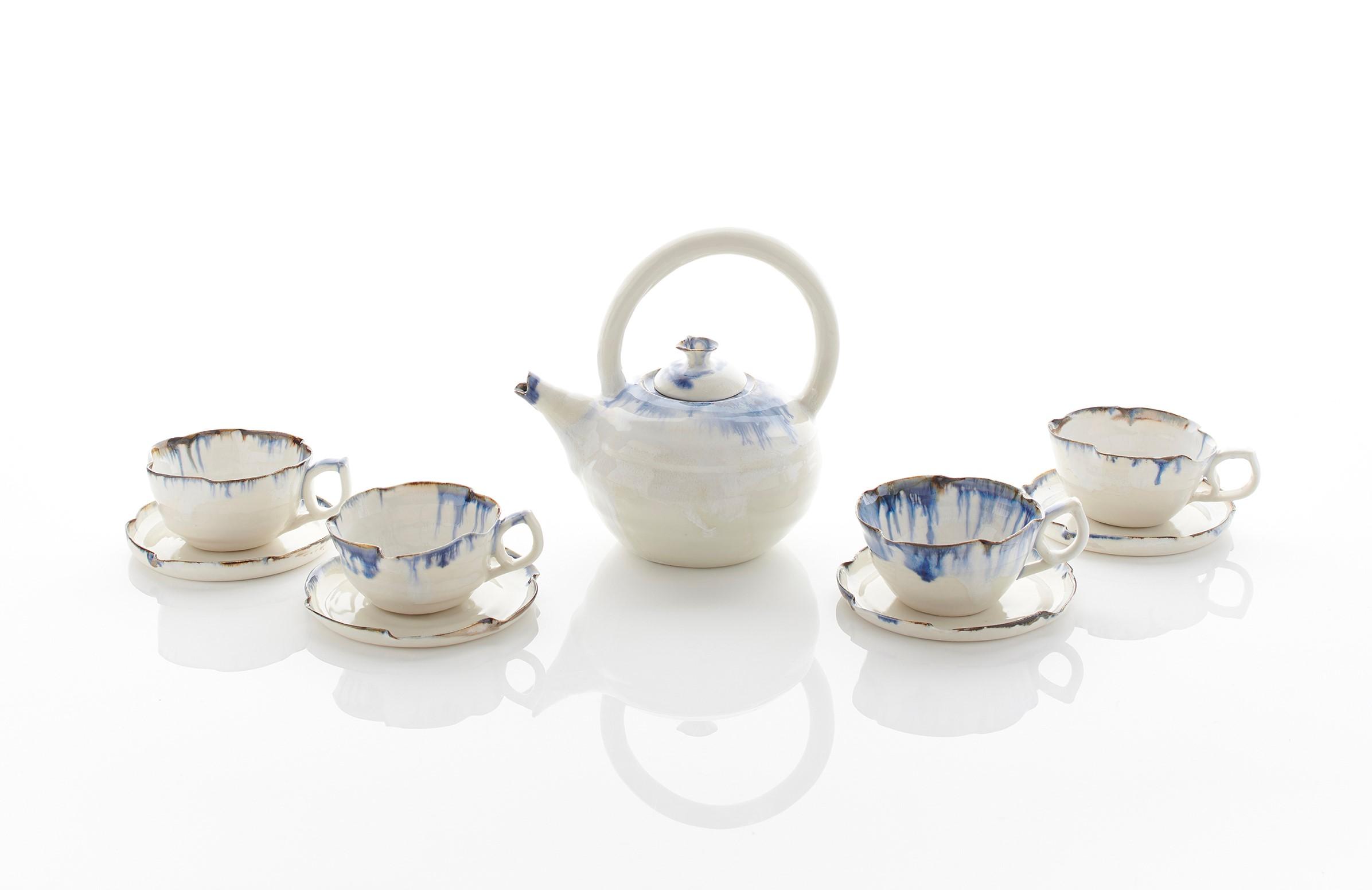 Tea cups and saucers & Teapot  8cm diam  £33 - £100