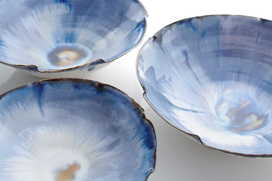 Wave bowls   12-35 cm diameter   £30 - £200
