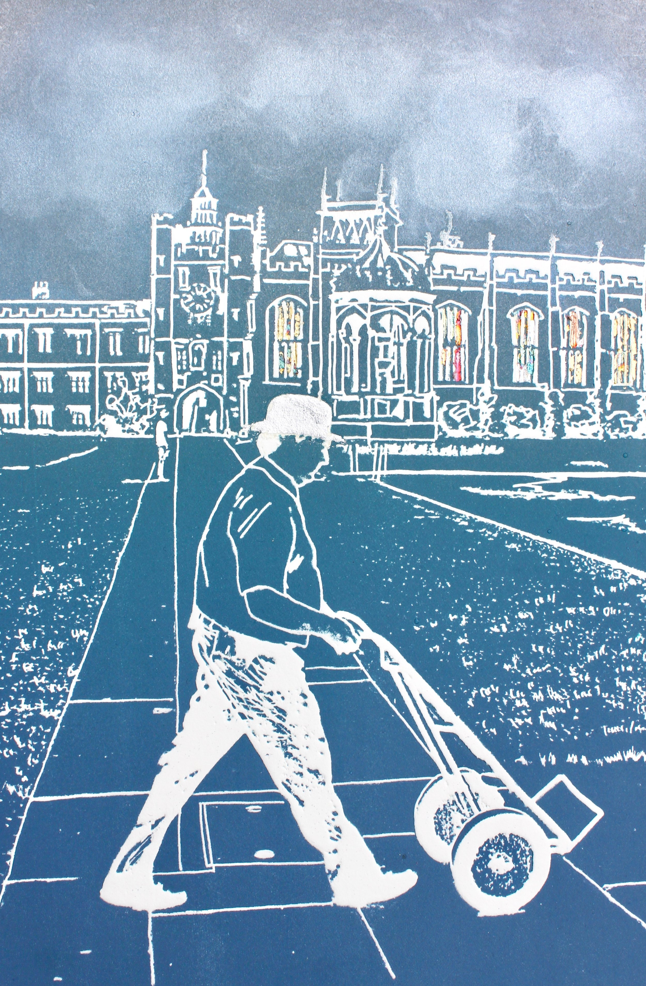 Another Day at the Office ed9   solar plate etching   47 x 57 cm  £215 framed