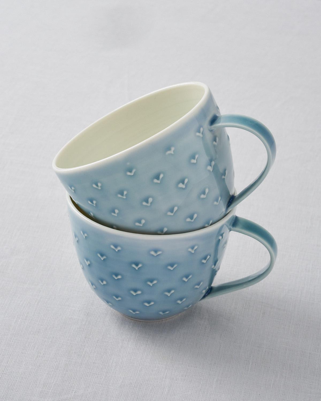 Leaf cups  ceramic  .  £30 each