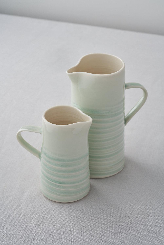 Wave jugs  ceramic  .  £50 - £70