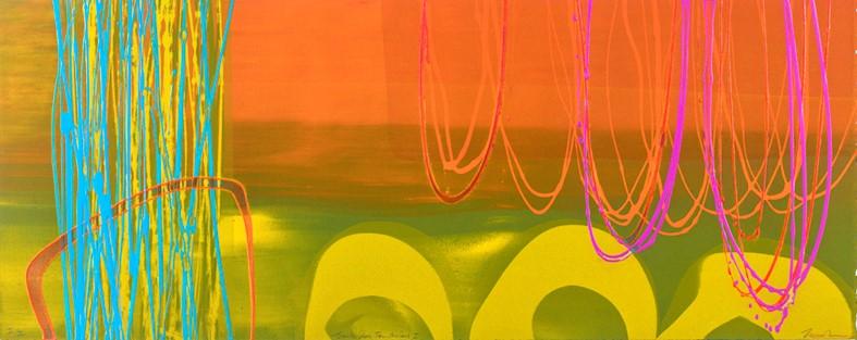 Souk des Teinturiers I, (II/II)   mono print , acrylic on paper  40 cm x 100 cm  £720 (unframed)