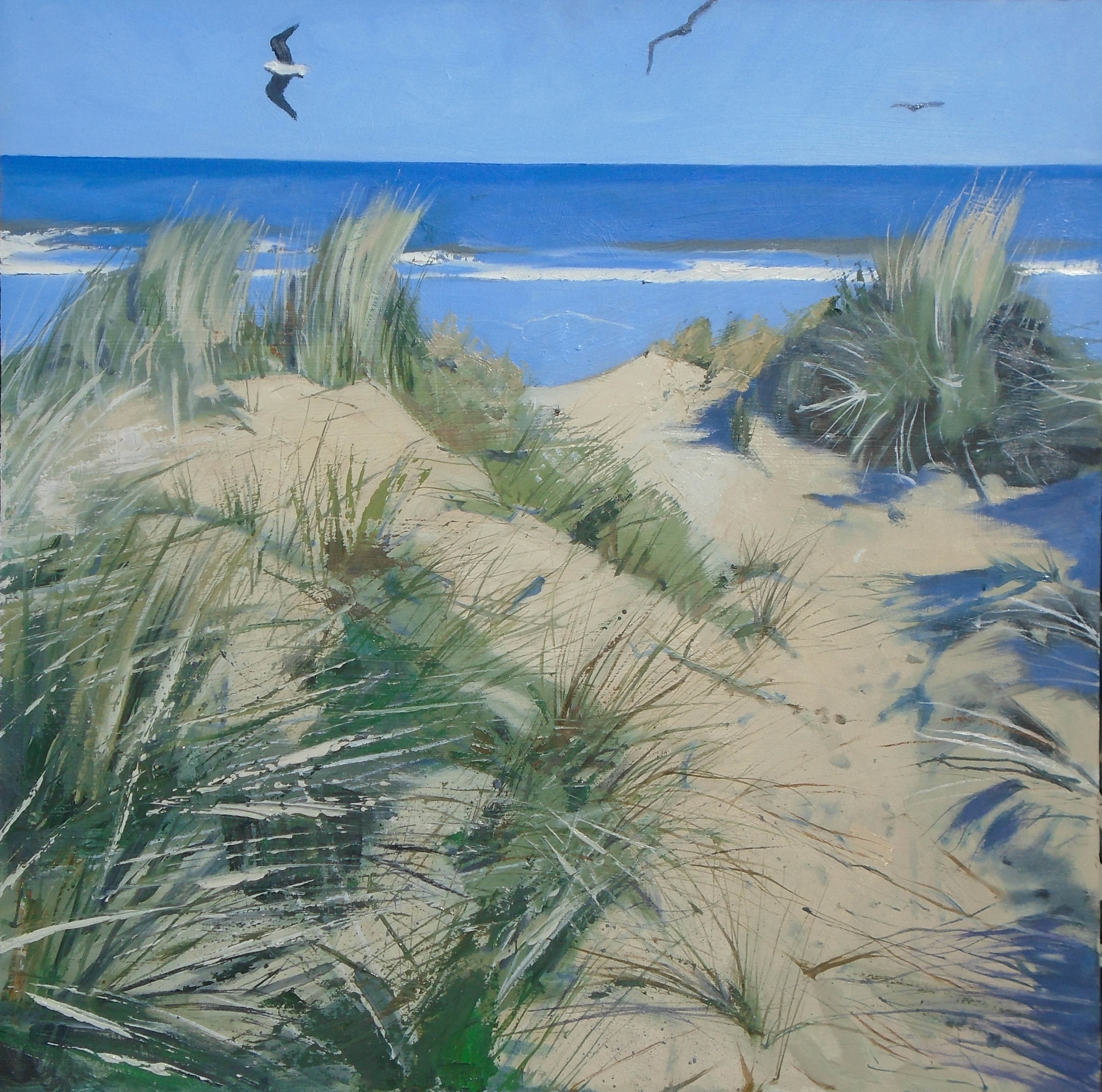 The Gulls  Oil on Board  60 x 60 cm  sold