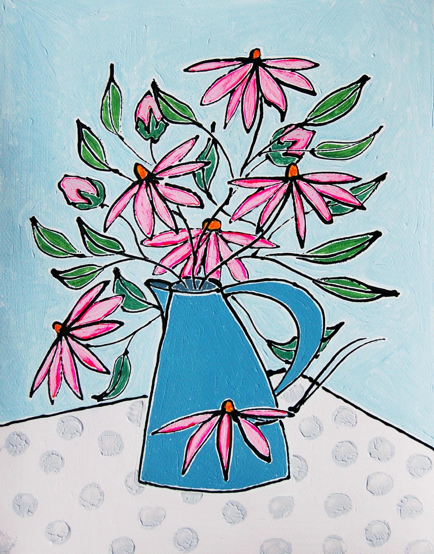 Echinacea  Acrylic  54cm x 45cm  £435