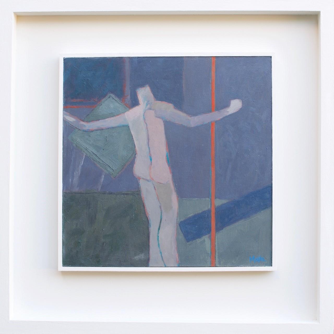 Dance  acrylic on board  31.5 x 31.5cm framed  £495