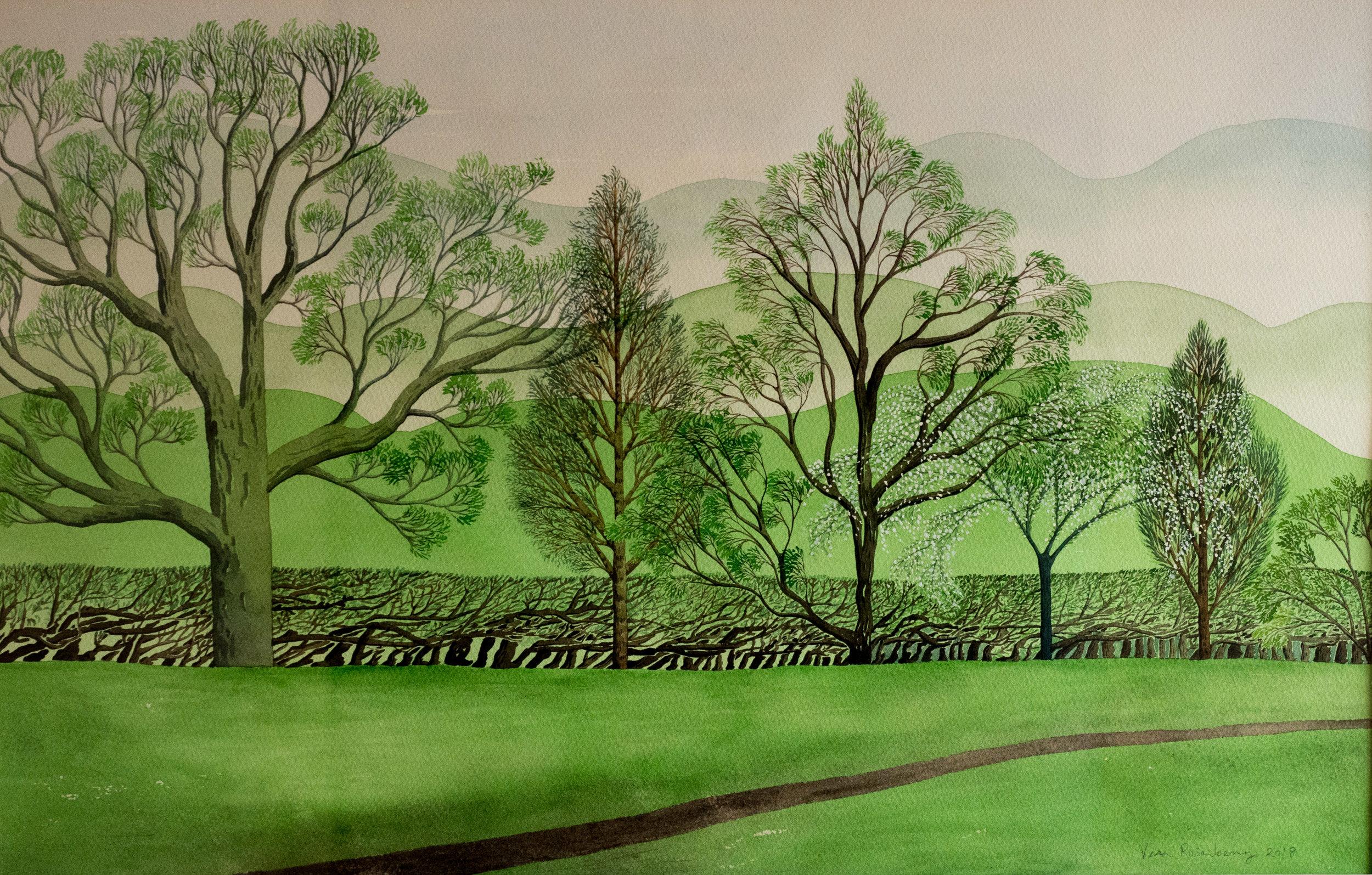 Spring Hedgerow  69.5 x 52.5 cm  £700