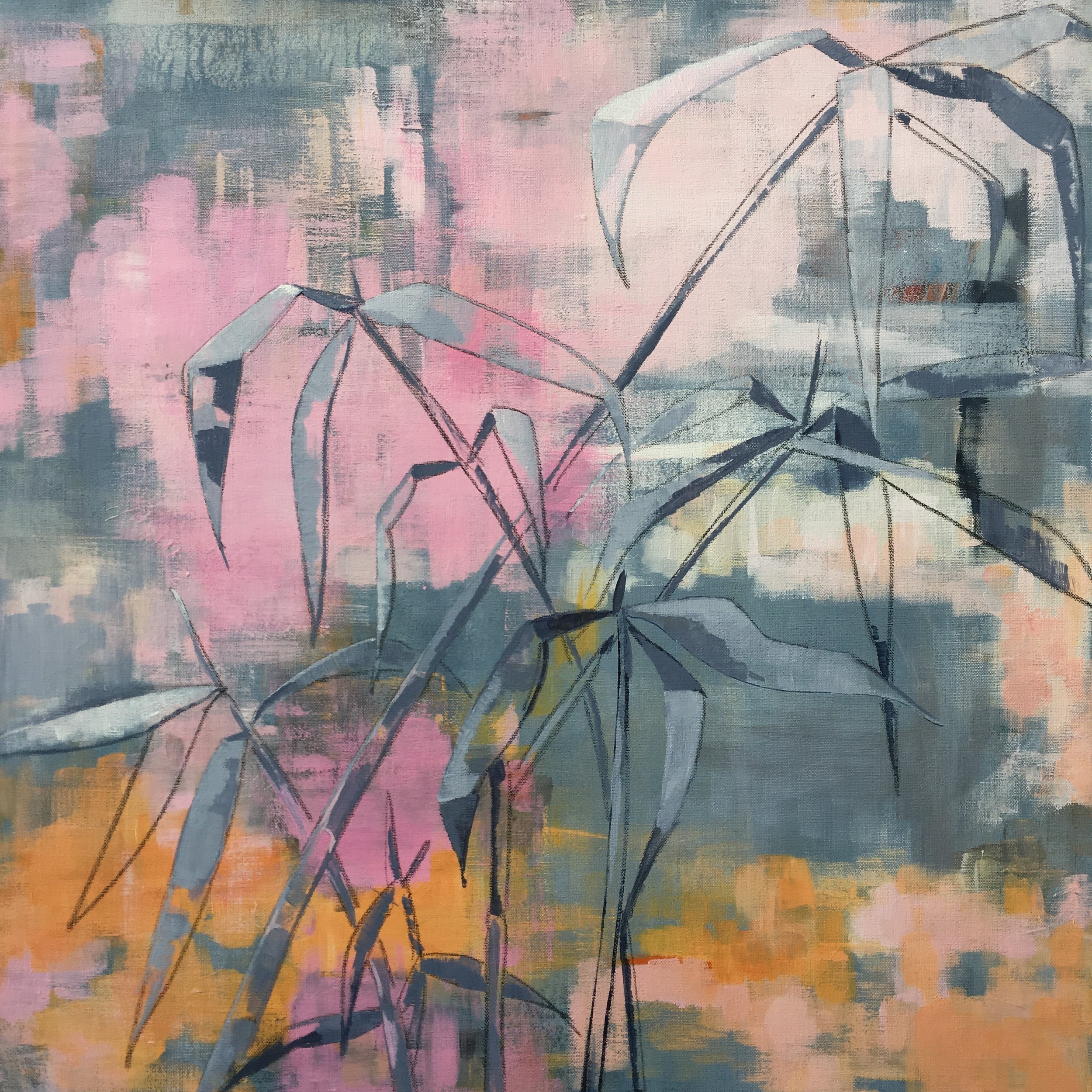 What is and what might be   acrylic and mixed media on linen  60cm x 60cm   £425