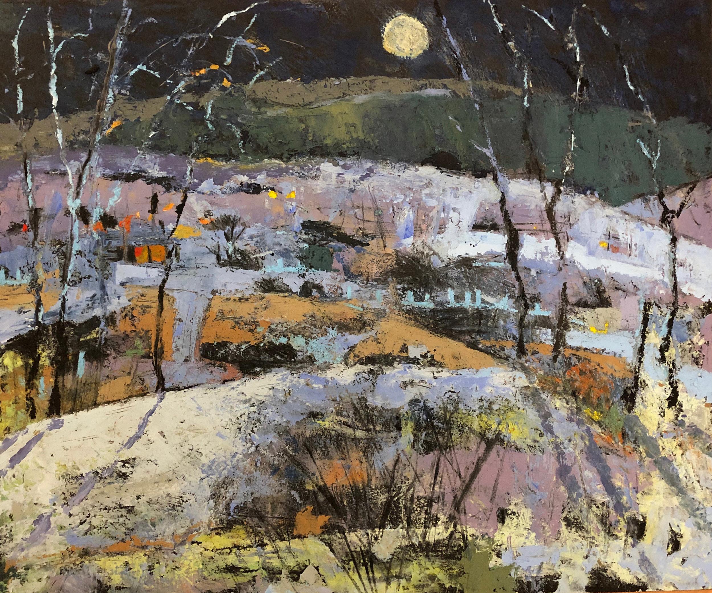 Moon Rising  Oil based media  70x62cm  £1100