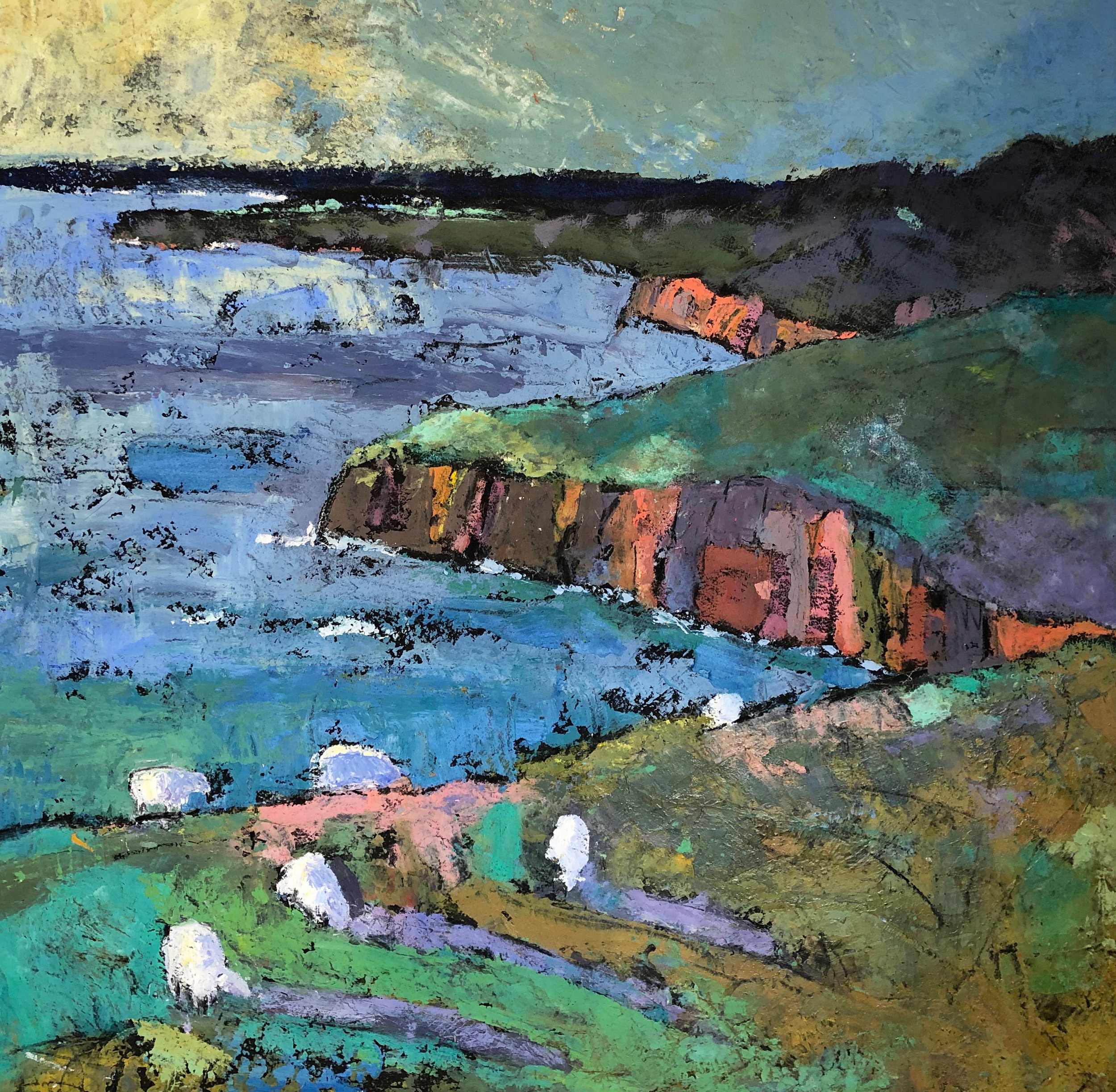 Pembrokeshire Sheep 77x77cm £1400-£1600 Oil based media.jpg