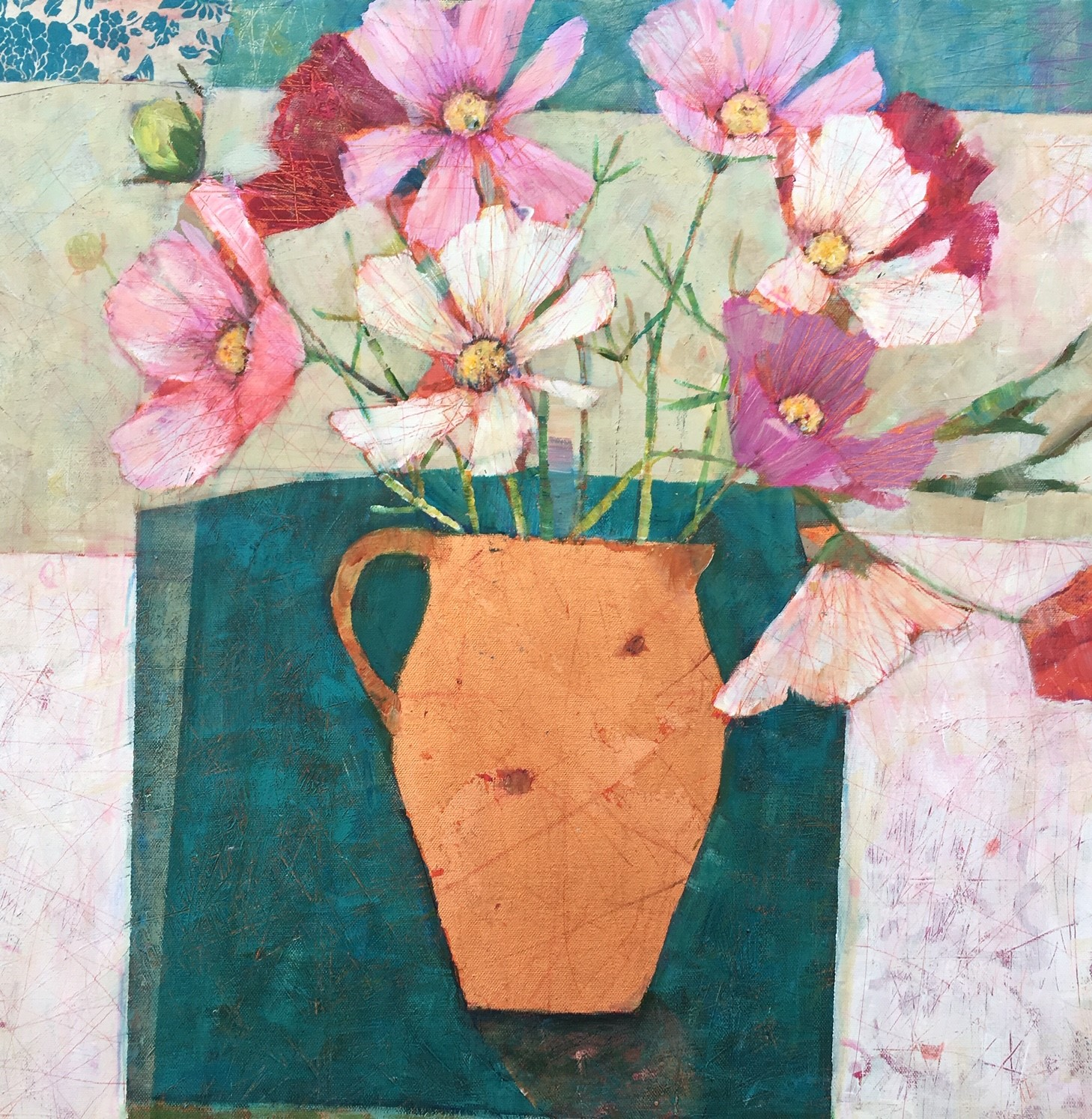 The Little Green Table  64 x 64cm  sold