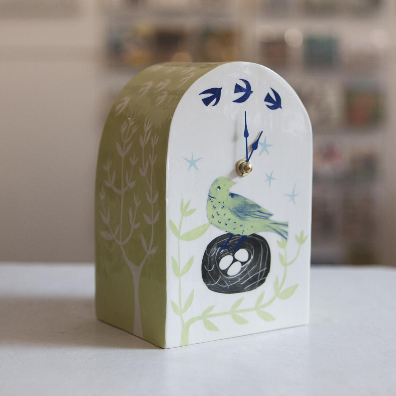 Clock 2  ceramic  sold