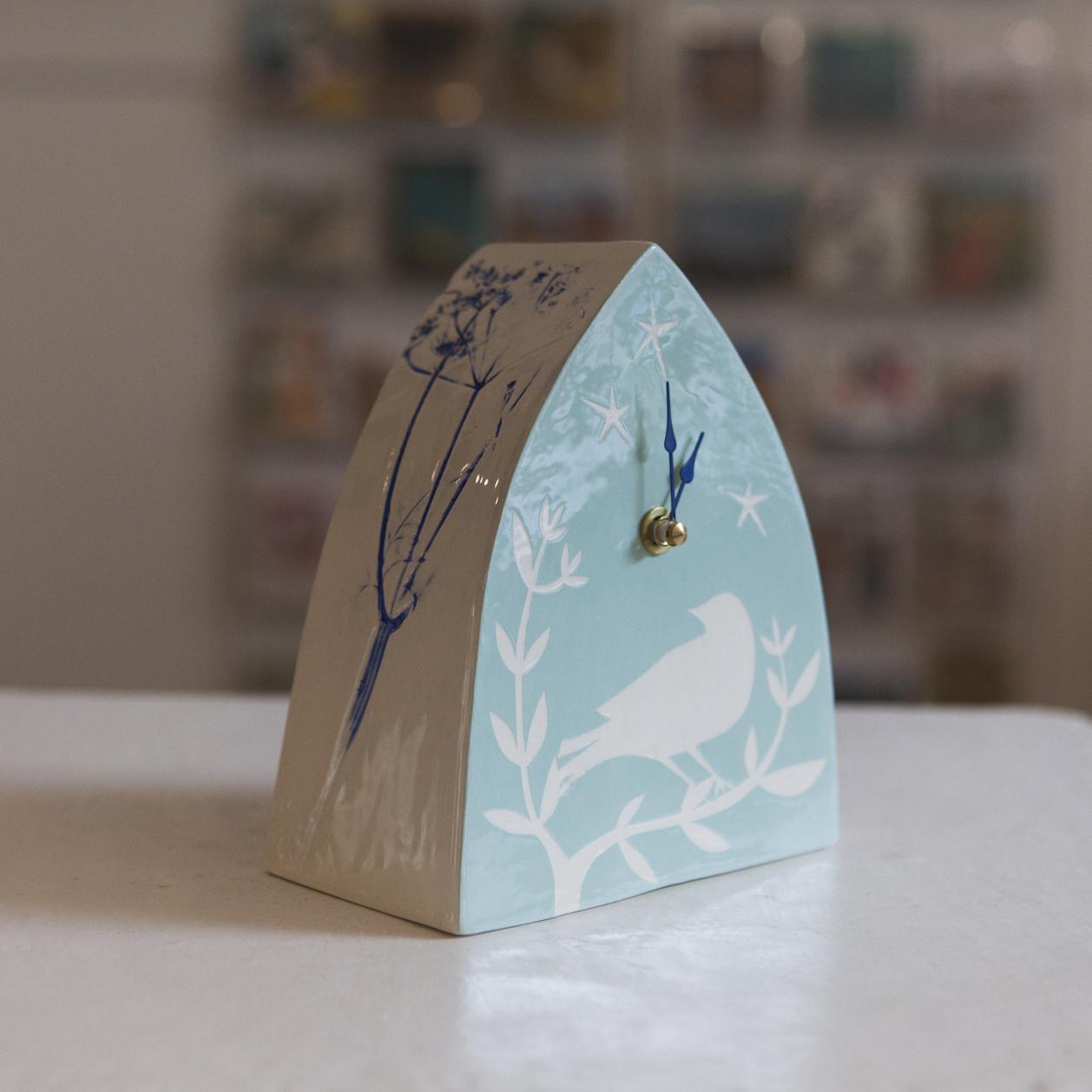 Clock 4  ceramic  sold