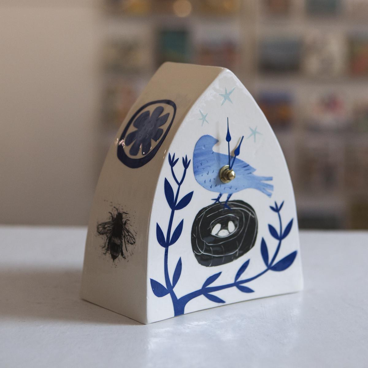 Clock 6  ceramic  sold