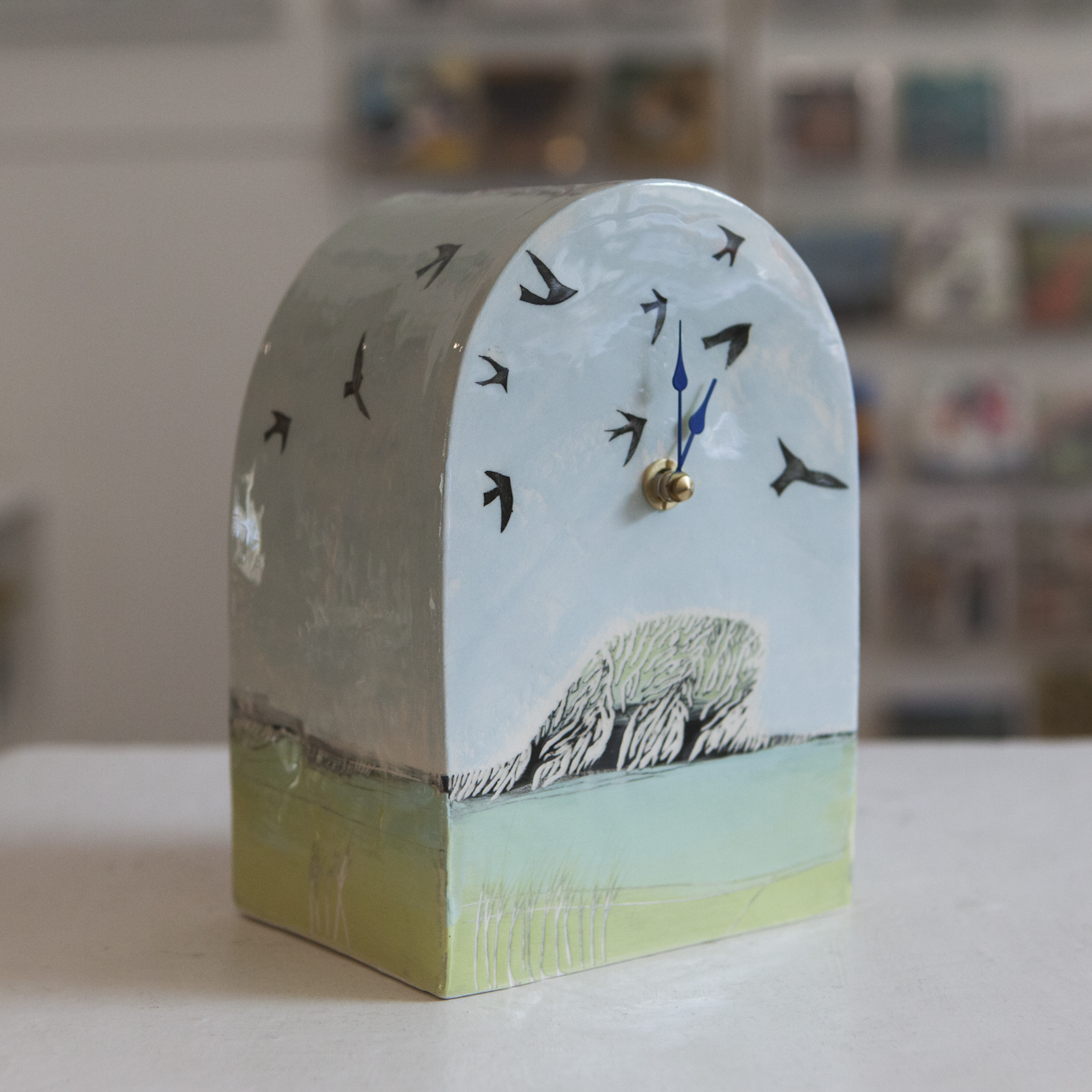 Clock 7  ceramic  sold