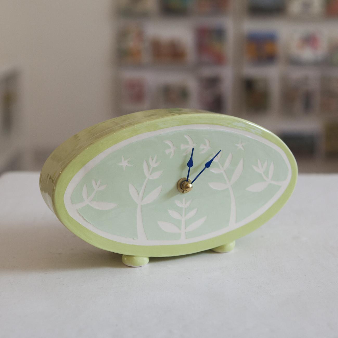 Clock 1  ceramic  sold