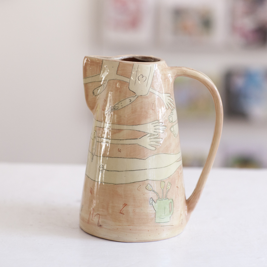 Large Jug  ceramic  19 x 12 cm  sold