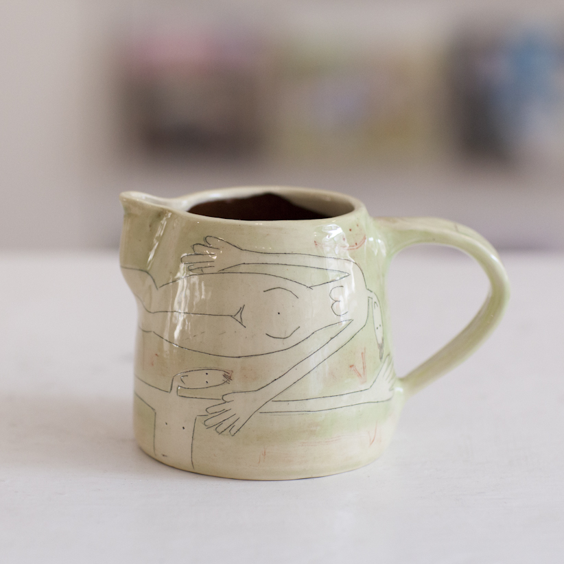 Small Jug  ceramic  8 x 13 cm  £35