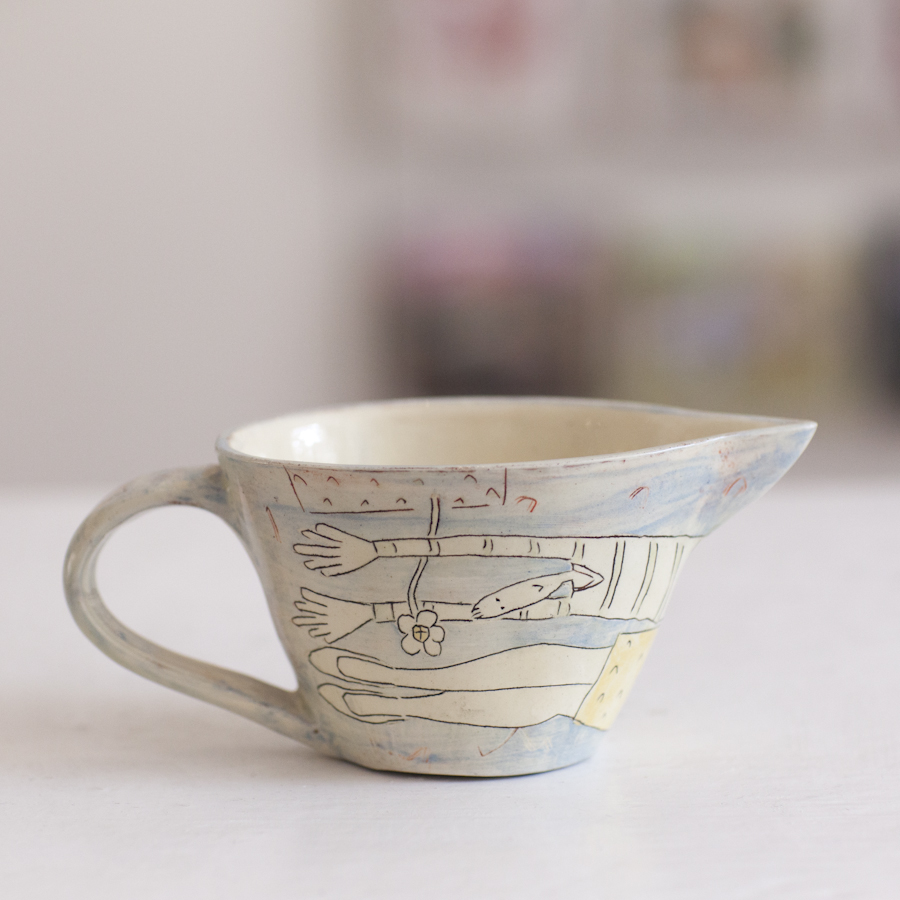 Small Jug  ceramic  7 x 16 cm  £33