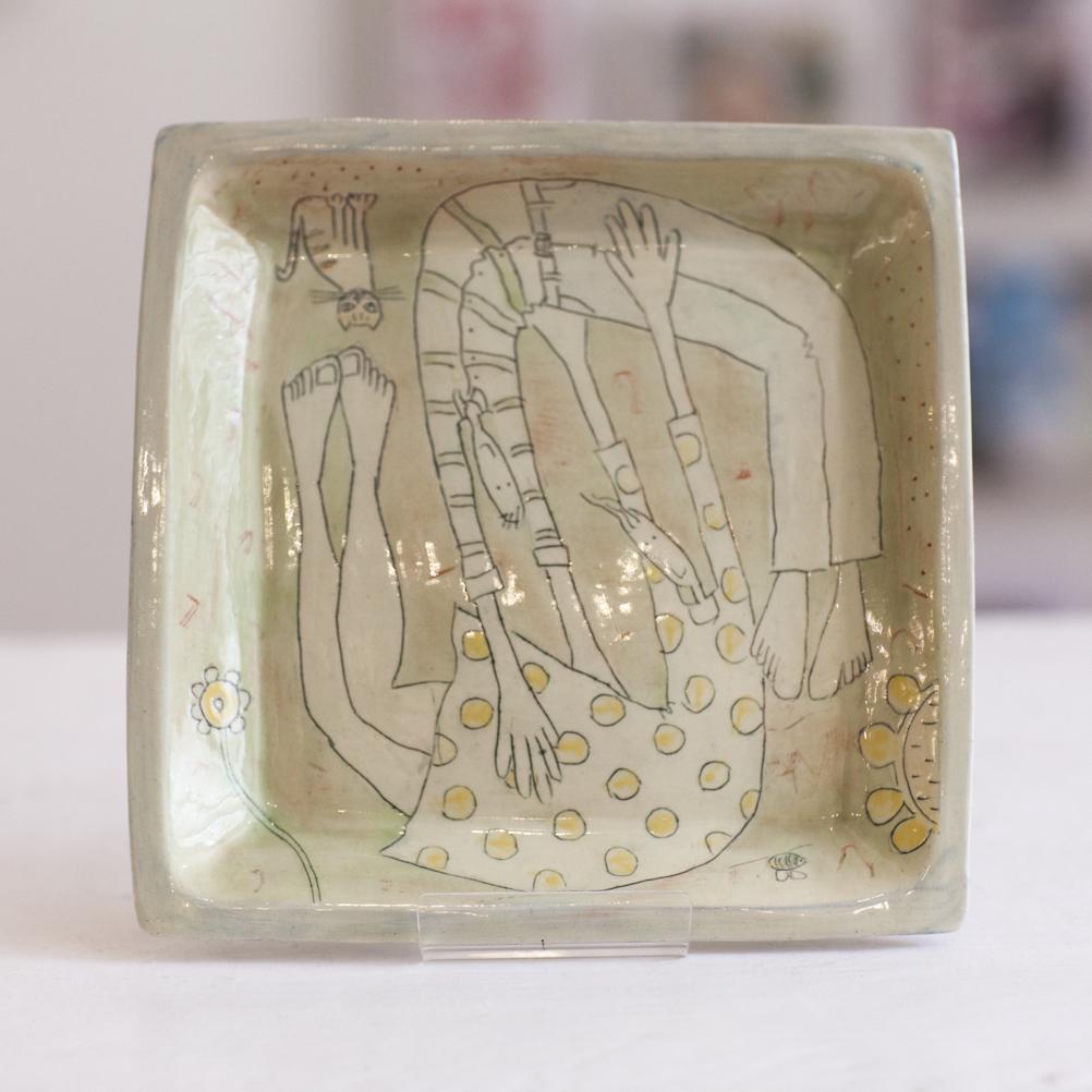 Square Dish  ceramic  3 x 19 x 19 cm  £52
