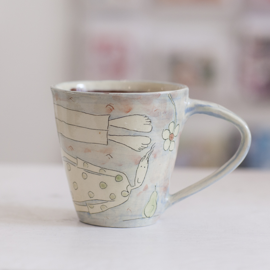 Large Mug  ceramic  10 x 10 cm  SOLD