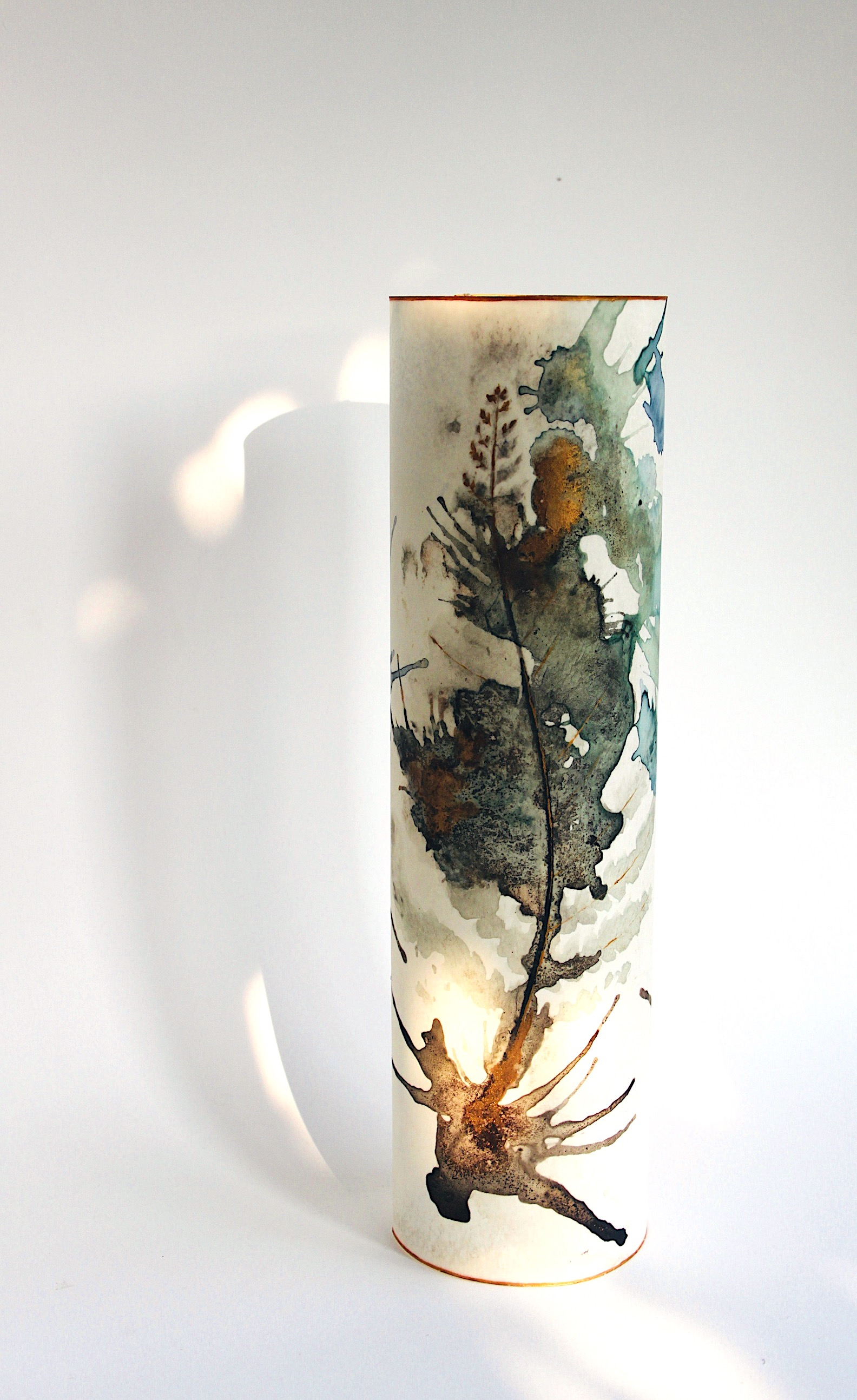 Fern Vessel  Ink and Paper  height 25cm