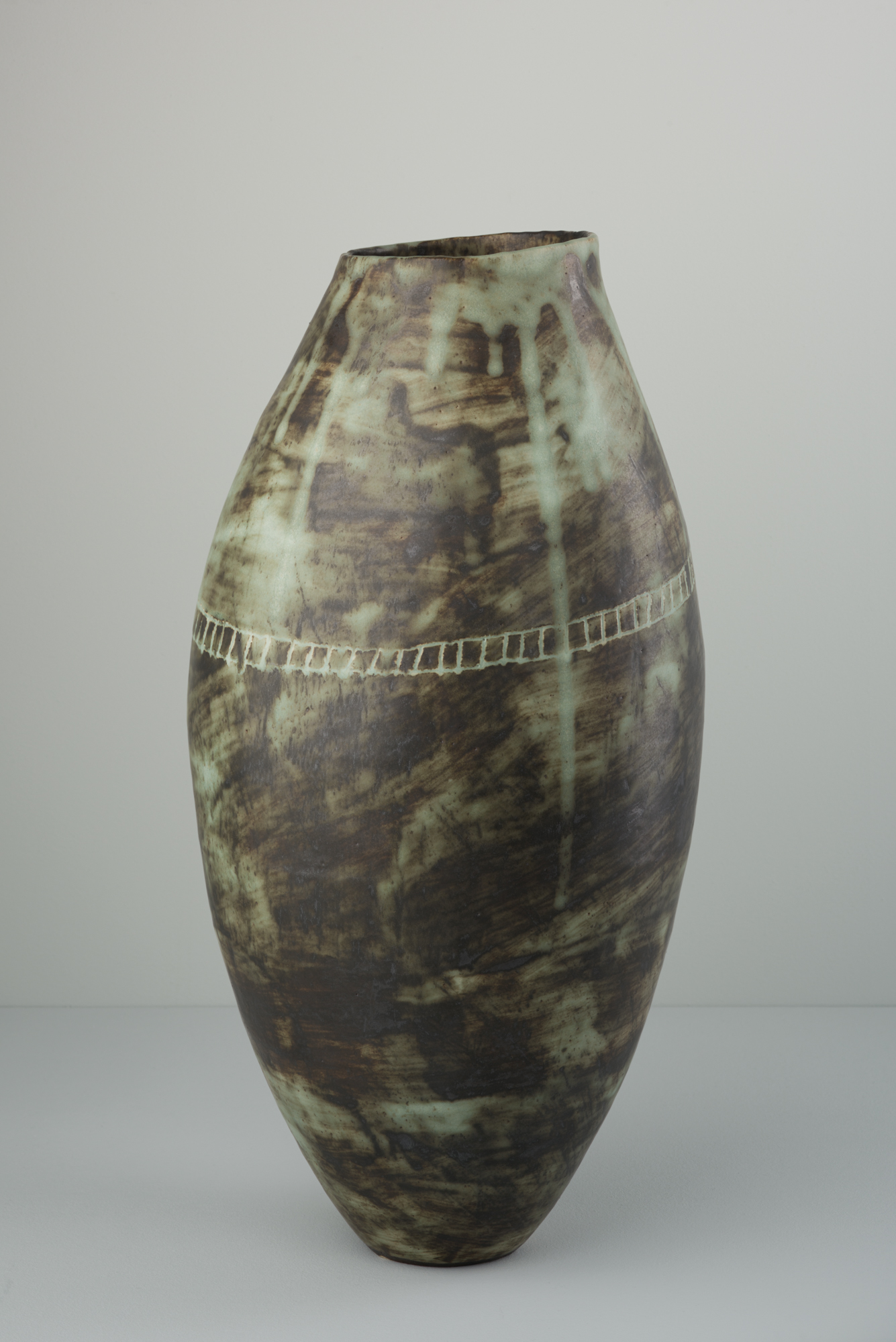 Copper Green Vessel  ceramic  30 x 14 x 15cm  £280