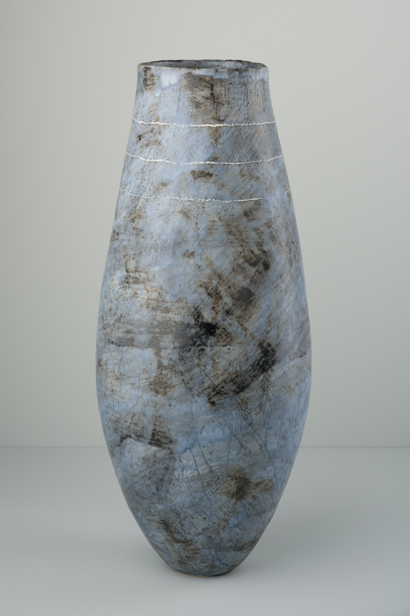 Tall Indigo Vessel  ceramic  49 x 20 x 20cm  £560