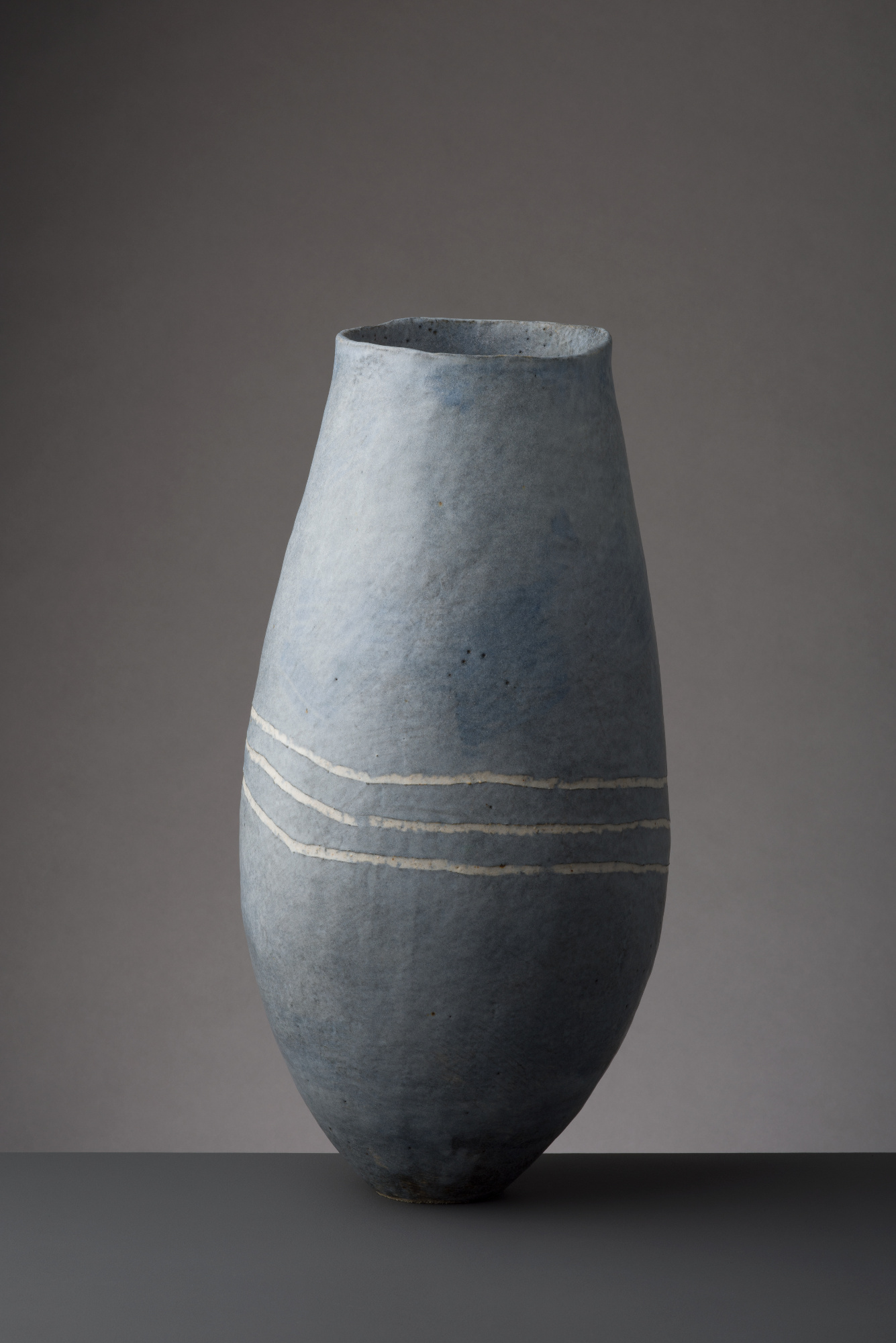 Tall Blue Vessel  Ceramic  46 x 20 x 19cm  £540