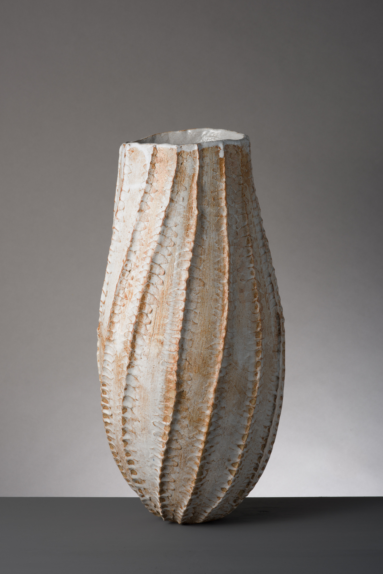 Twisted Brown Vessel  ceramic  45 x 20 x 20cm  £450