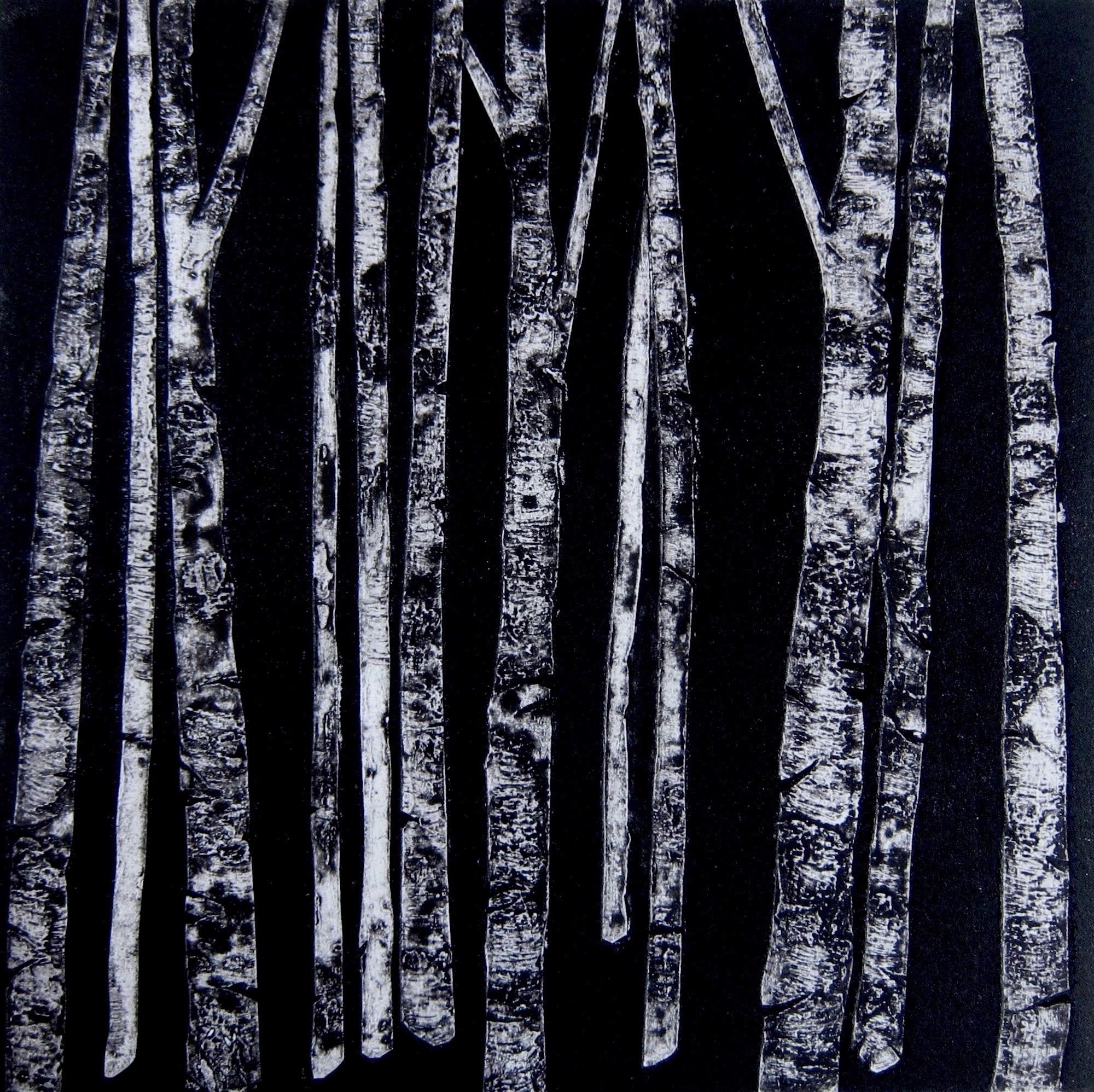 Birches  silk aquatint  40 x 40 cm  £180
