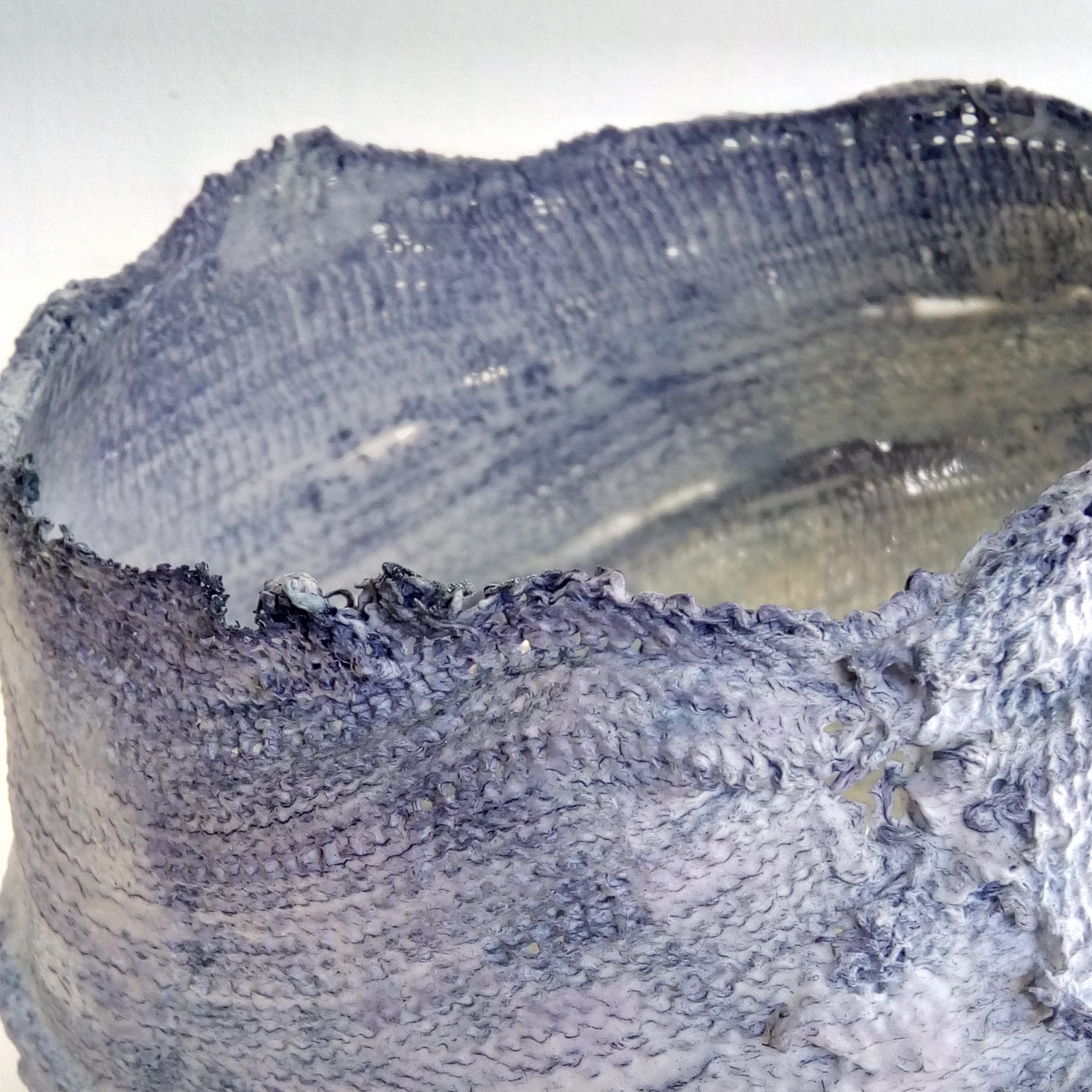 Large Sunkissed Bowl  Porcelain/Cyanotype  15 x 18 x 16cm  £98