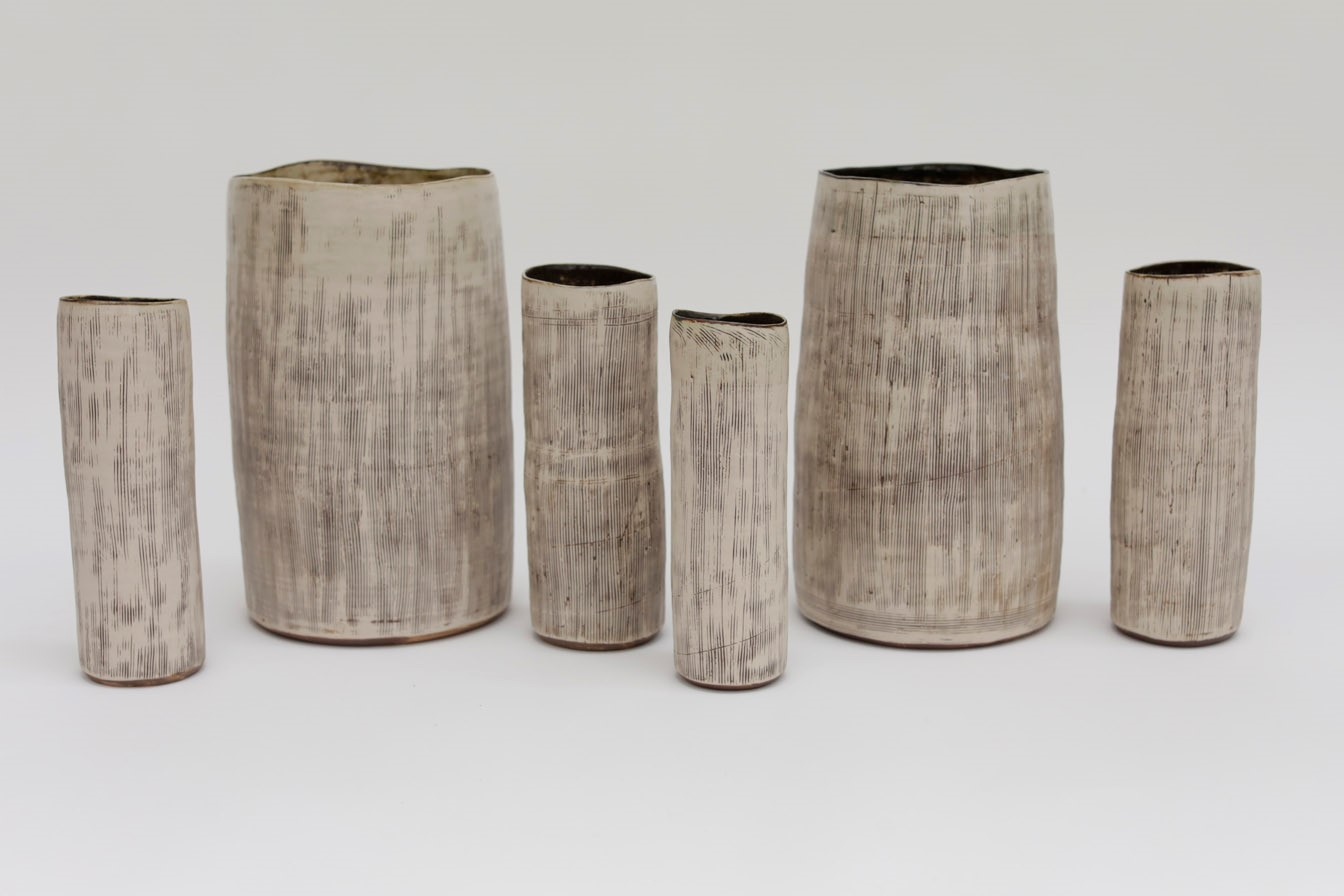 Inlaid Vessels  ceramic  20 - 40 cm height approx  £70 - £320 each