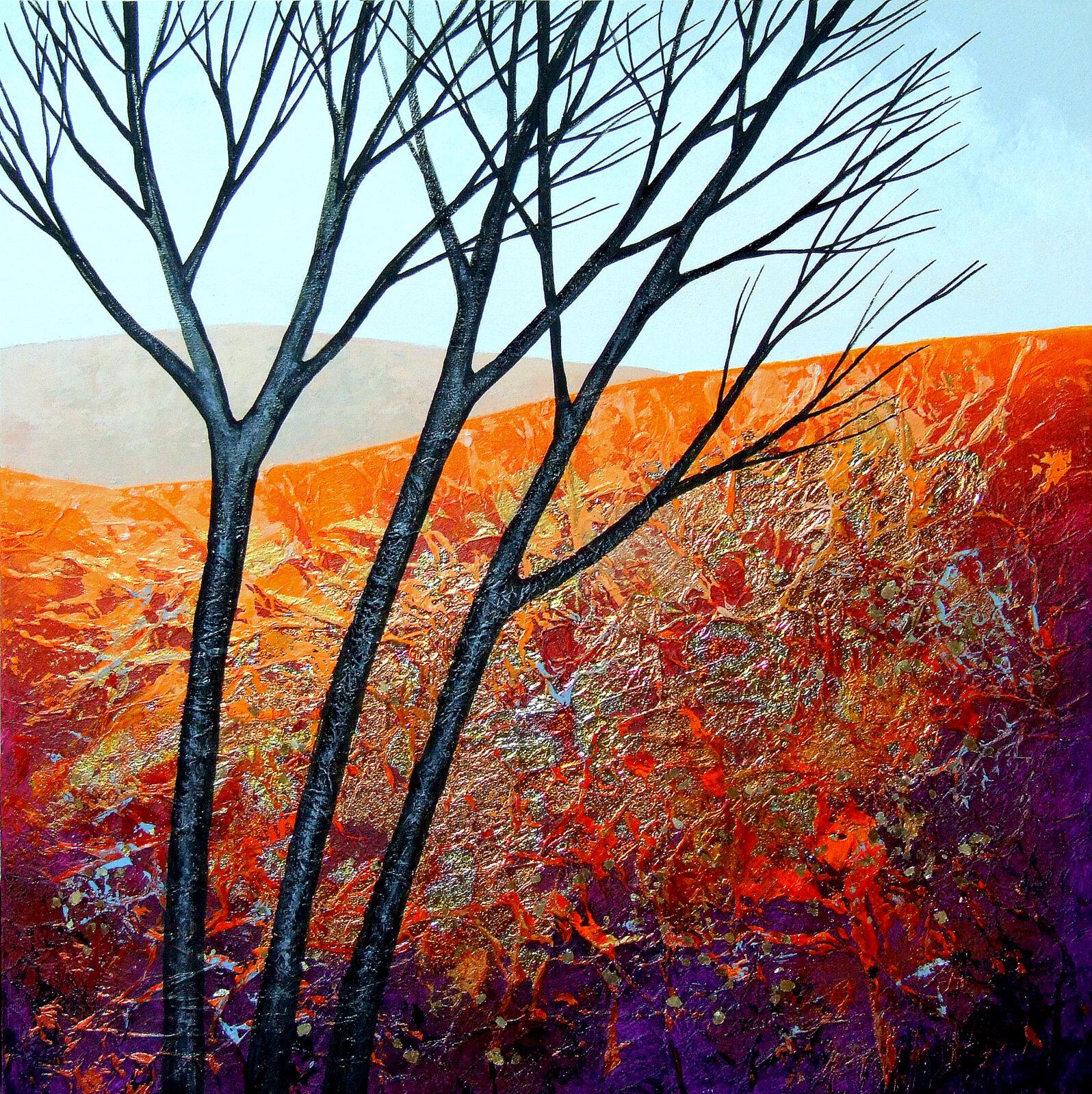 The Burnished Autumn II  acrylic  SOLD