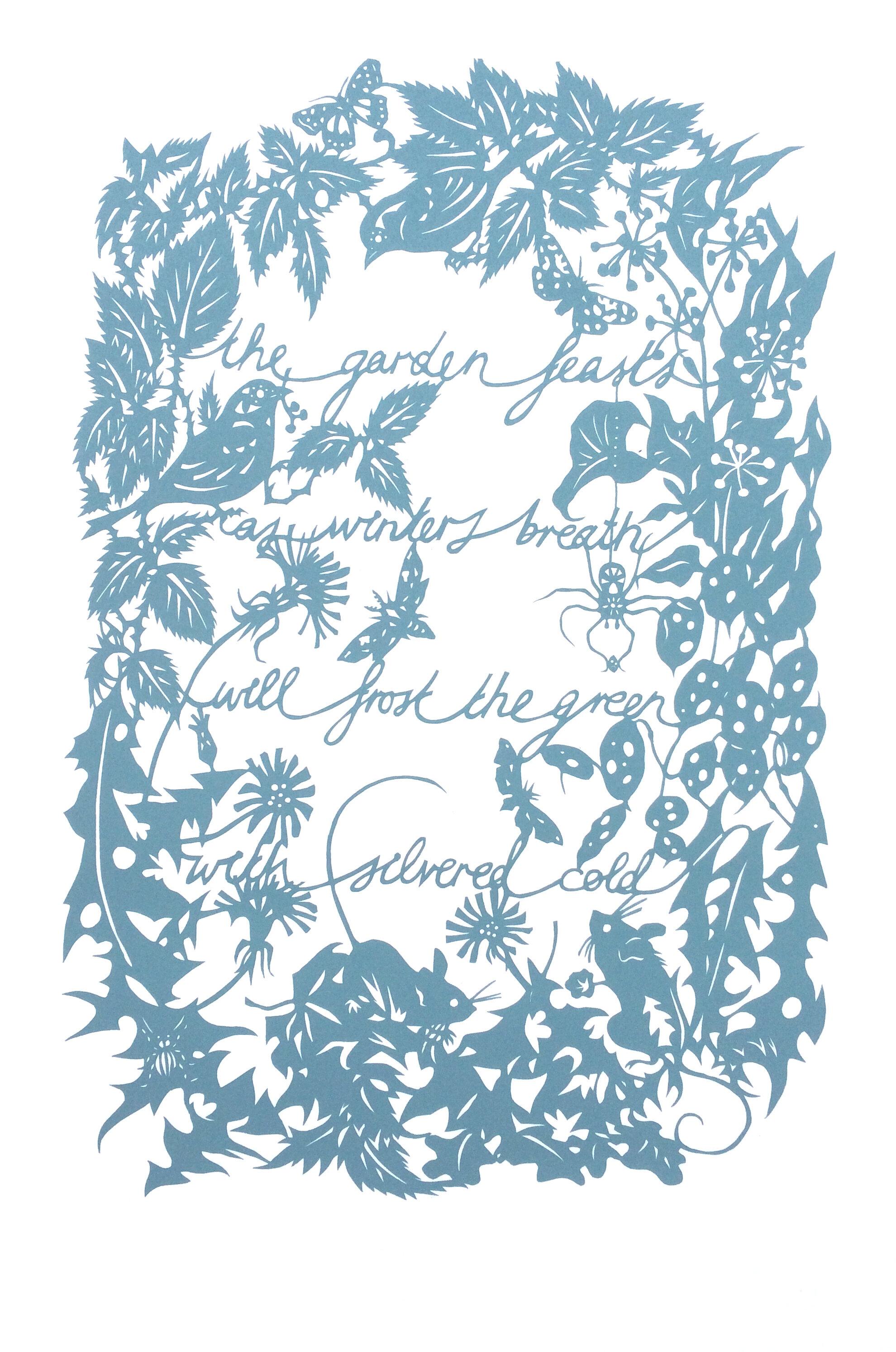 The Garden Feast   screenprint   29 x 42cm  £50