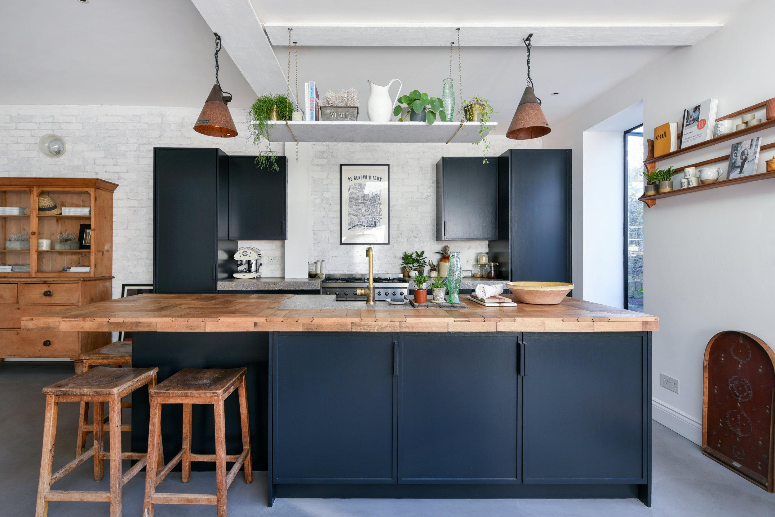 Keuken donkerblauw