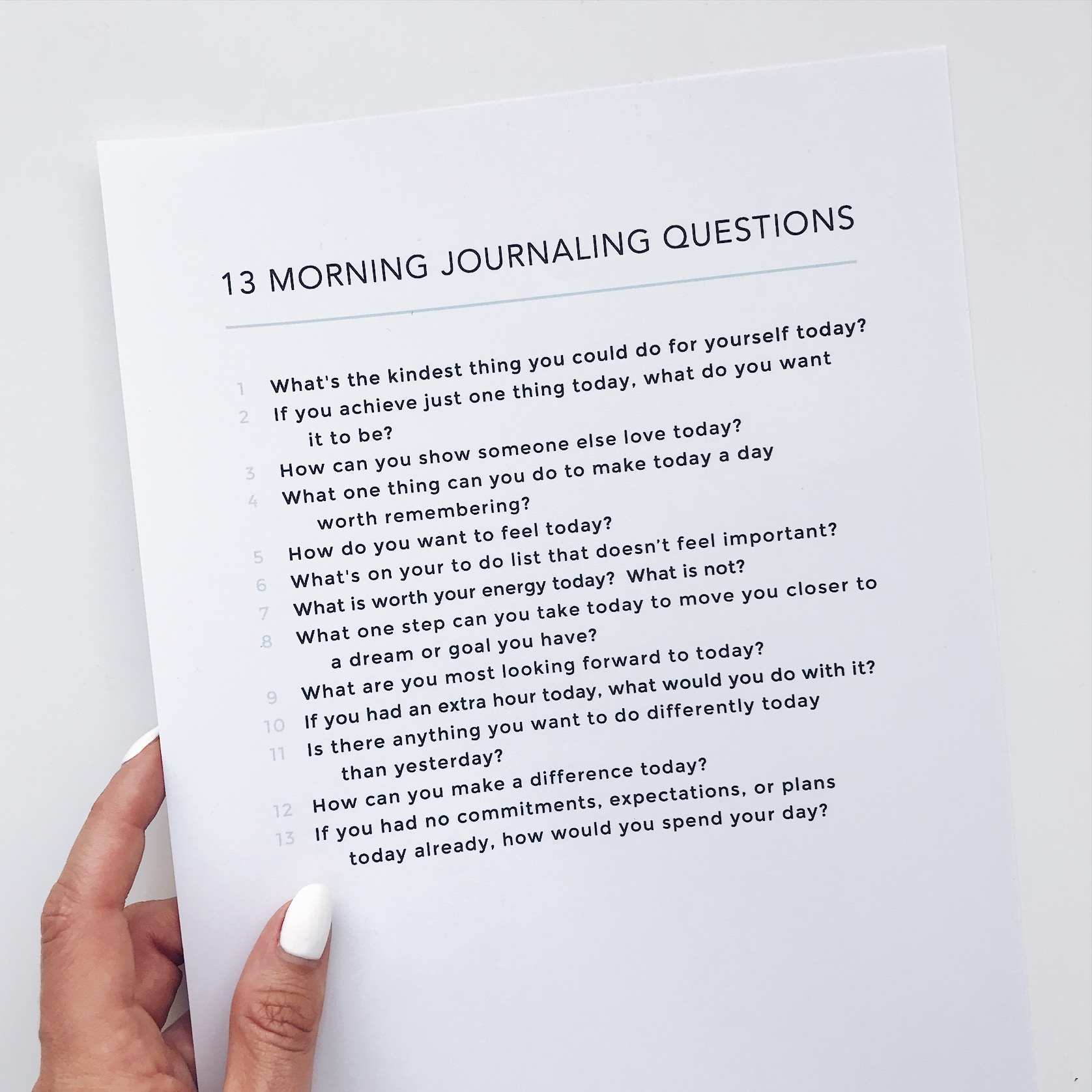 13 Morning Journaling Questions