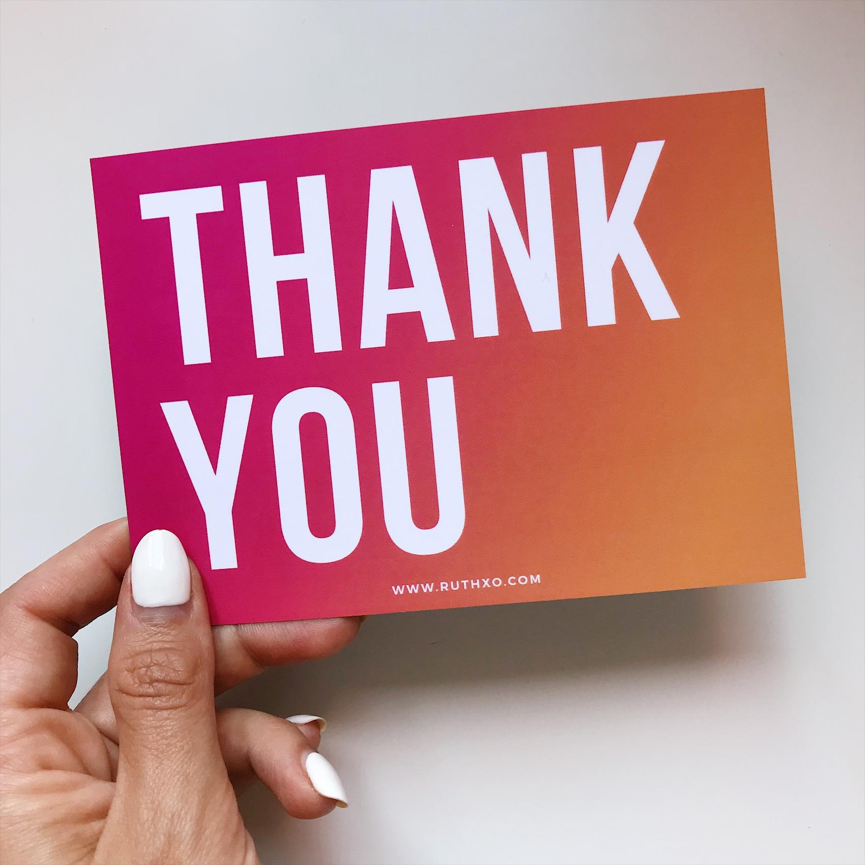 RUTH XO : Thank You Card