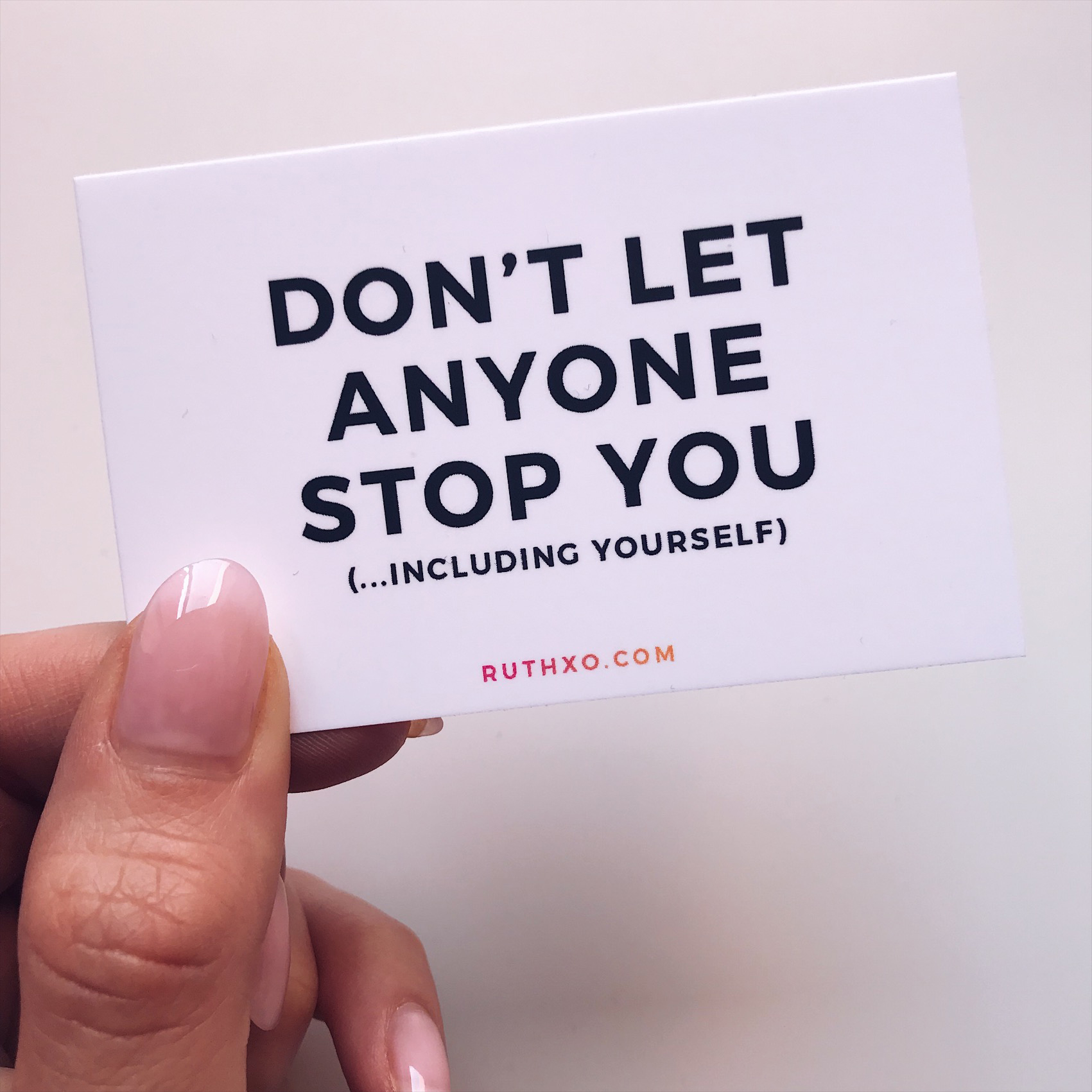 Don't Let Anyone Stop You