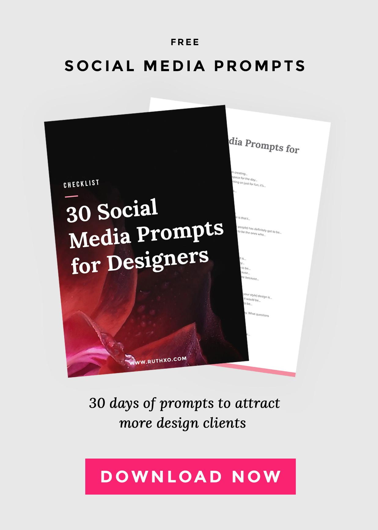 30 Social Media Prompts for Designers